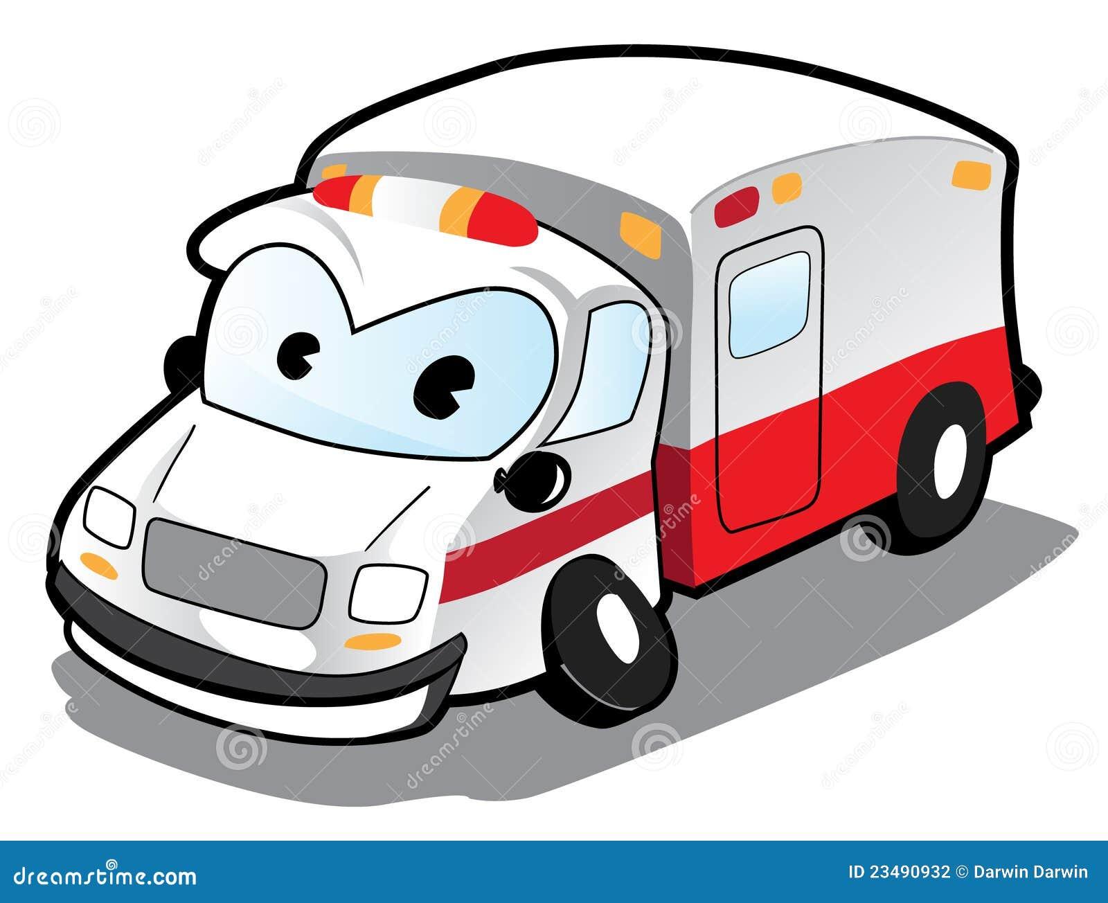 救护车汽车动画片图象.图片