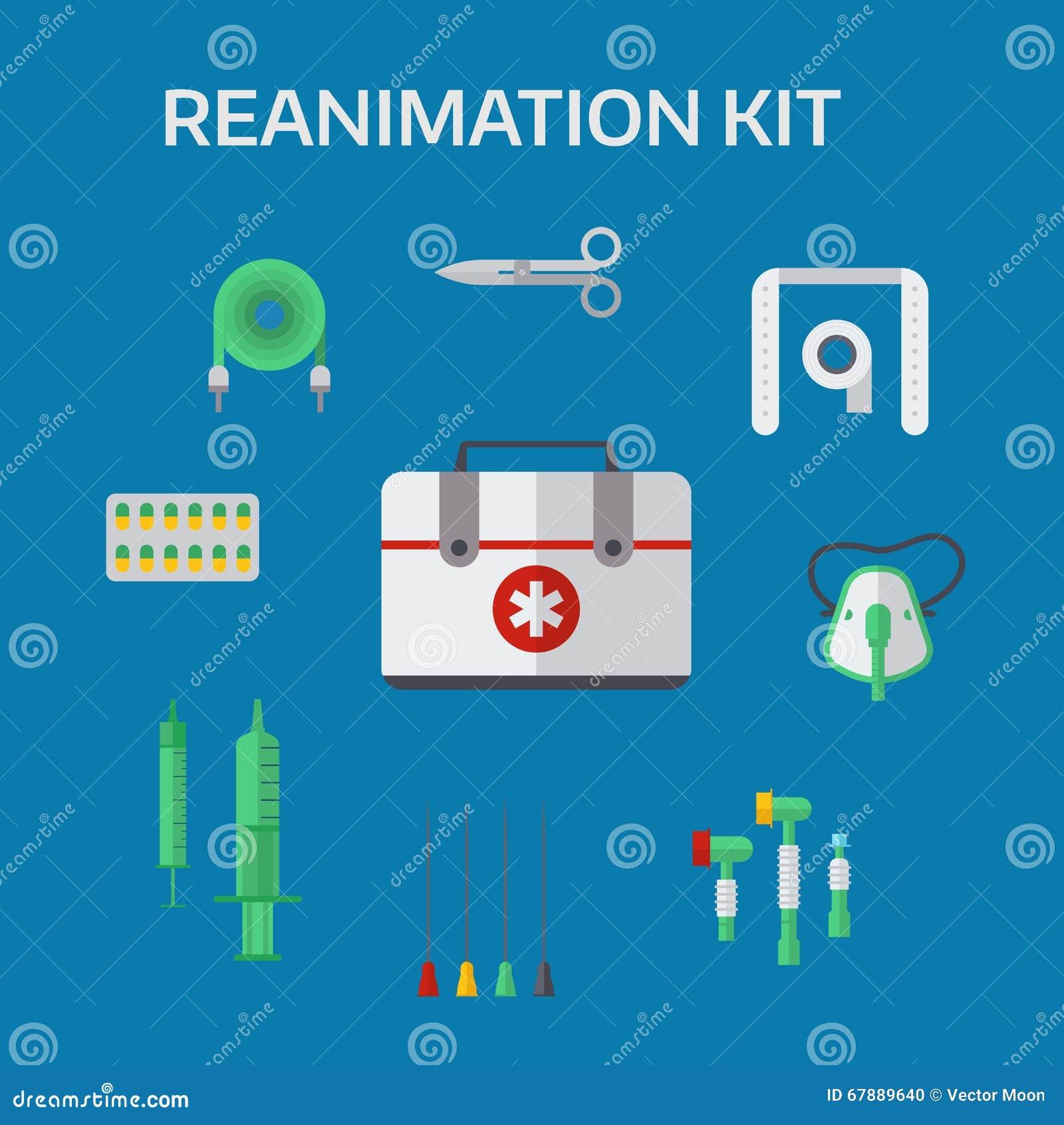 救护车复活象传染媒介例证