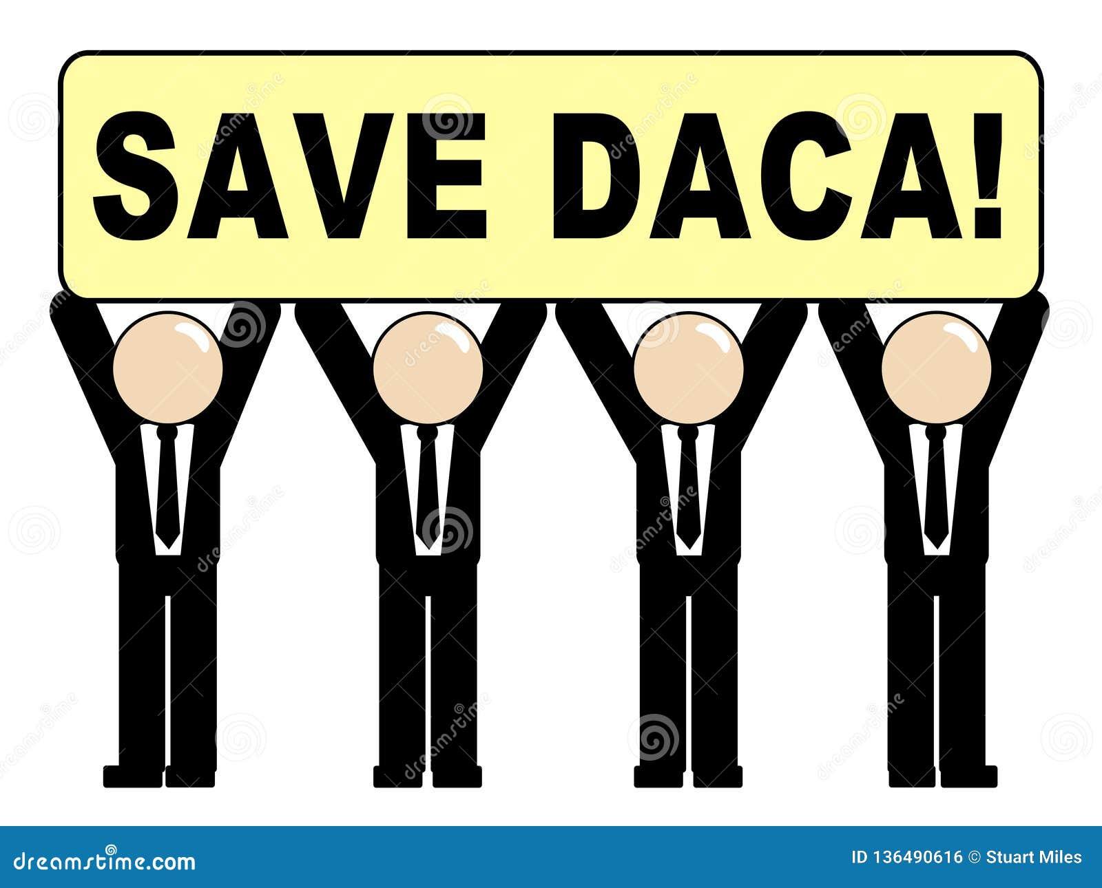 救梦想家的Daca抗议成交路到公民身份-第2个例证