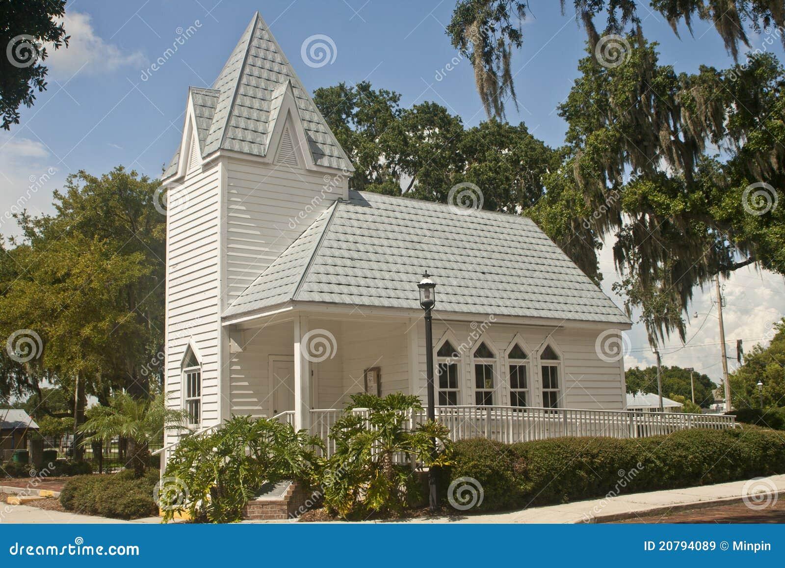 教会佛罗里达历史被顶房顶的锡