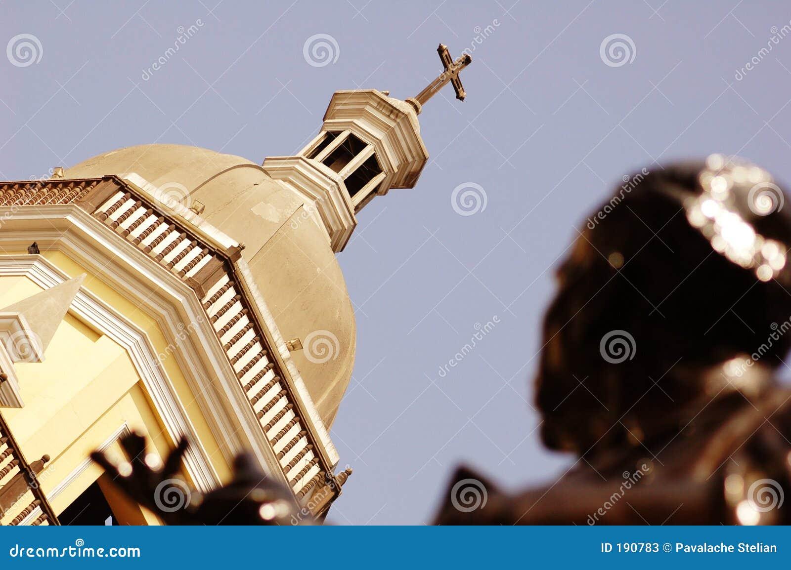 教会圆顶利马秘鲁