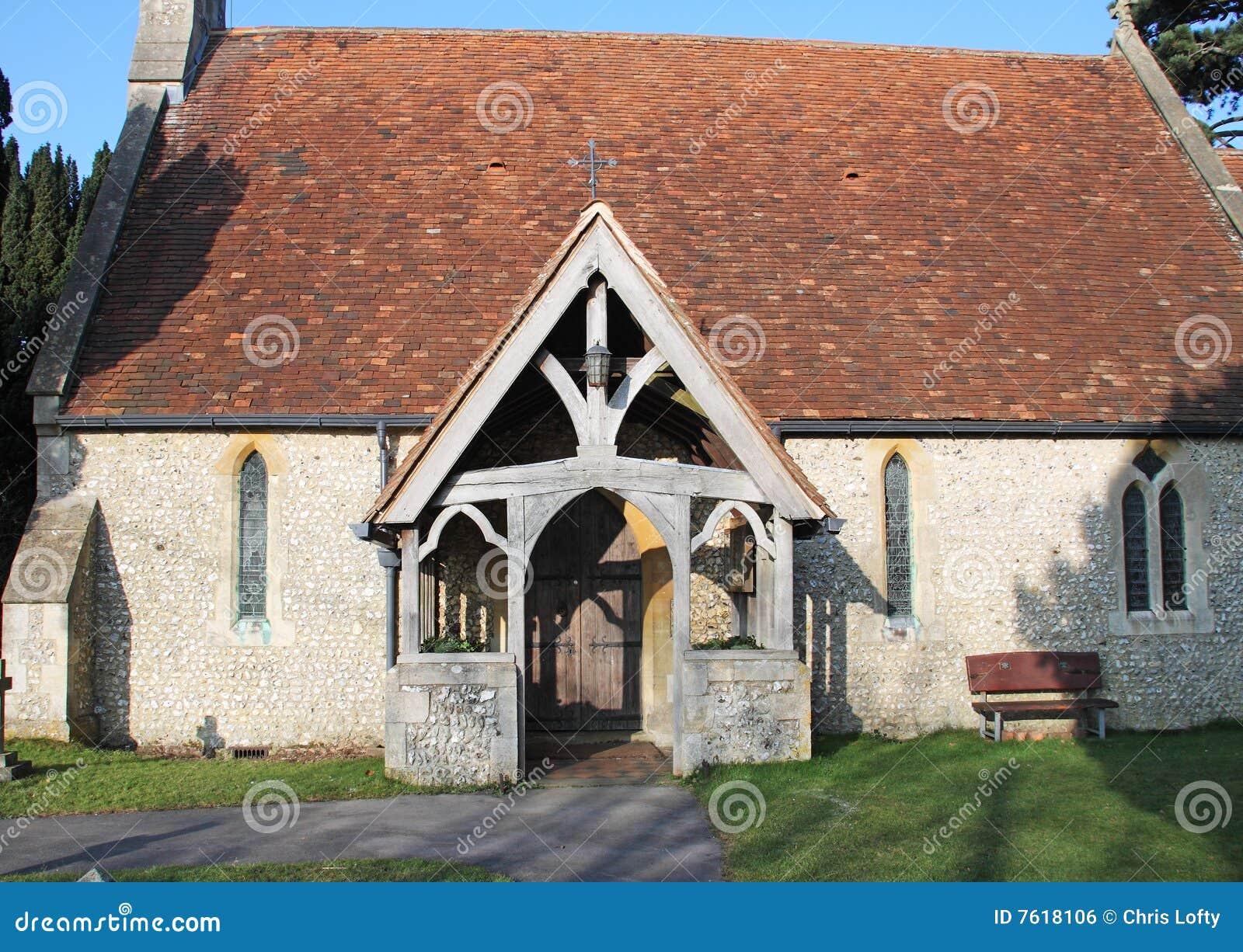 教会英语村庄