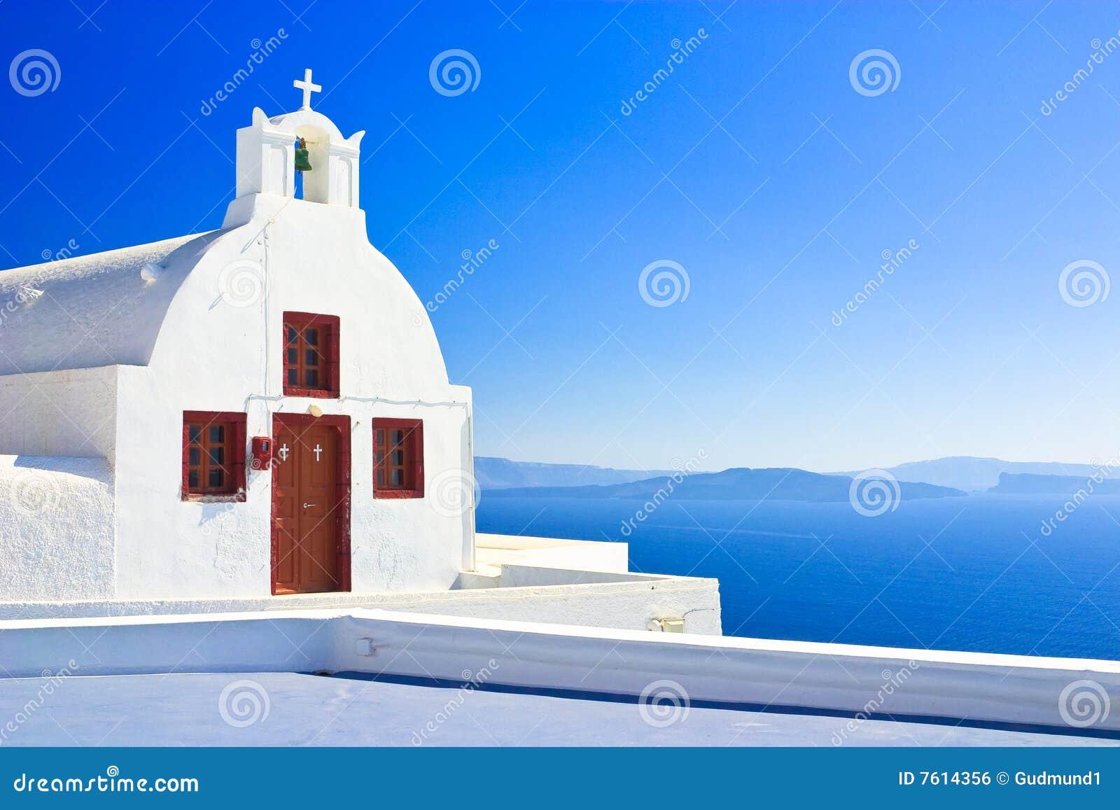 教会pictoresque santorini