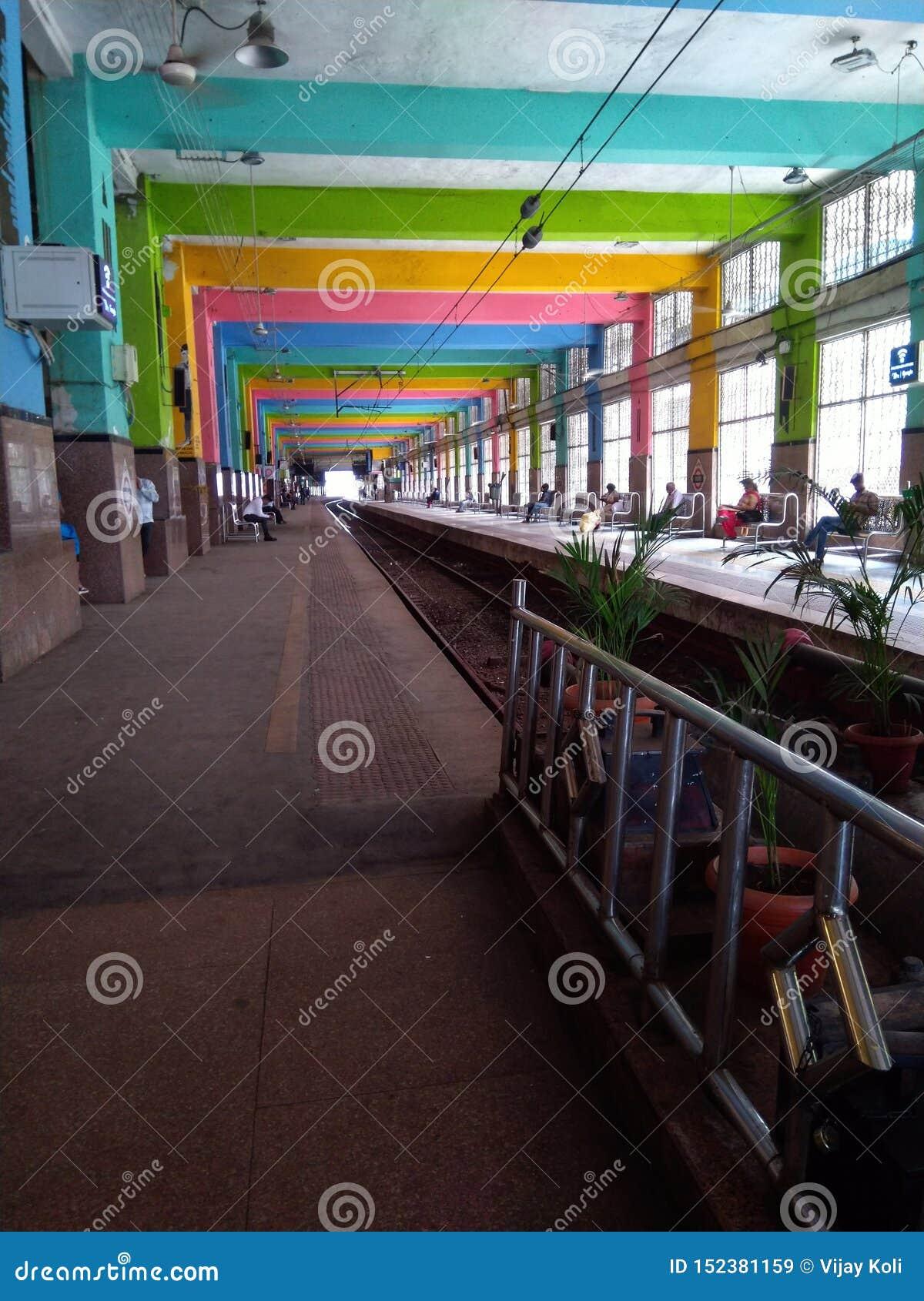 教堂门驻地平台孟买印度铁路