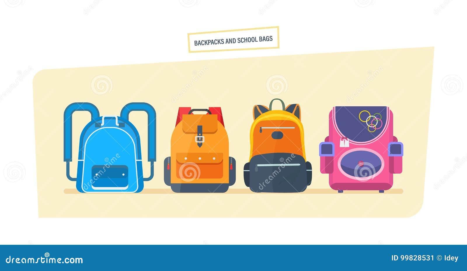教育和研究,书包行李,有学校用品的背包