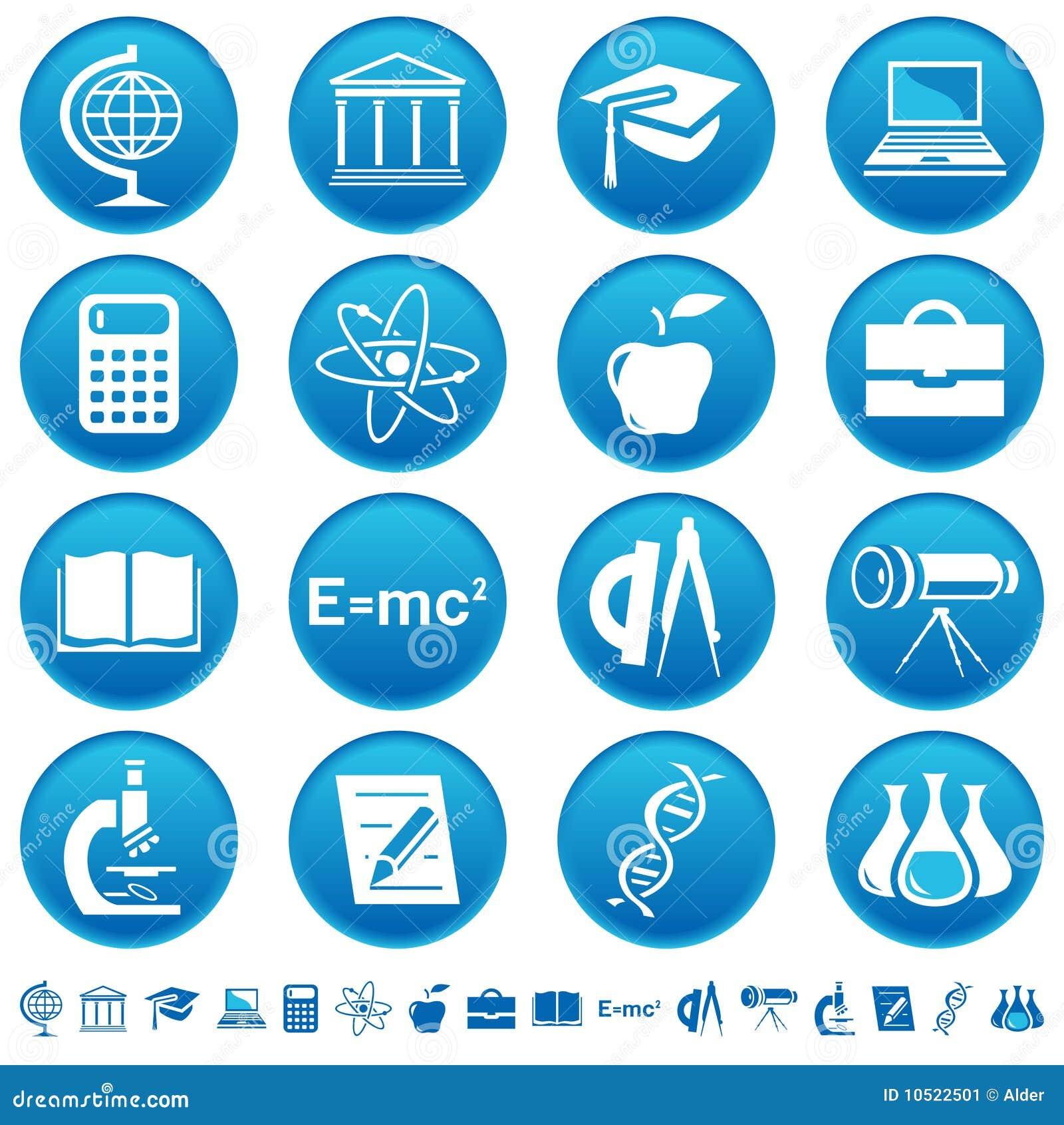 教育图标科学