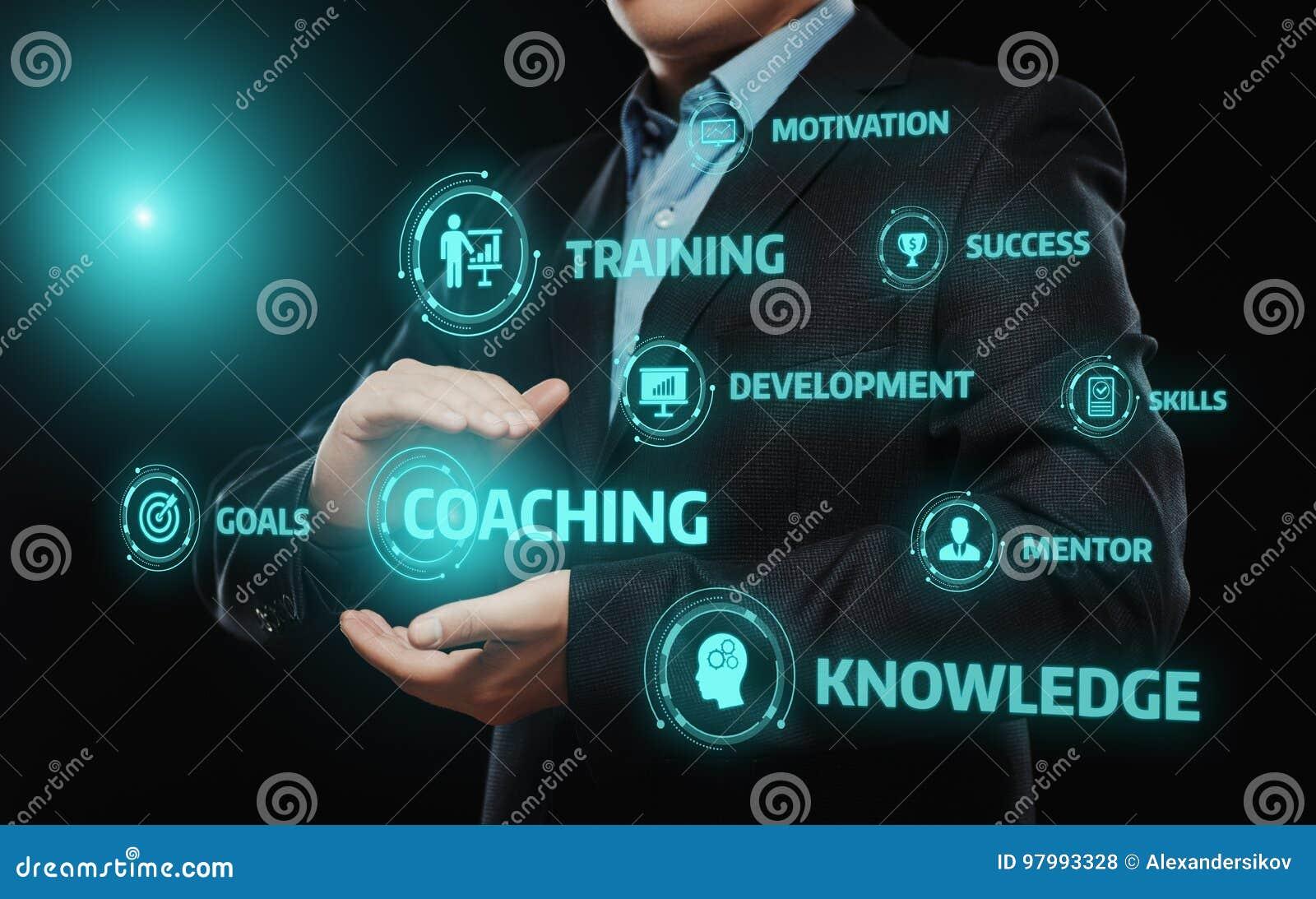 教练良师教育产业训练发展电子教学概念