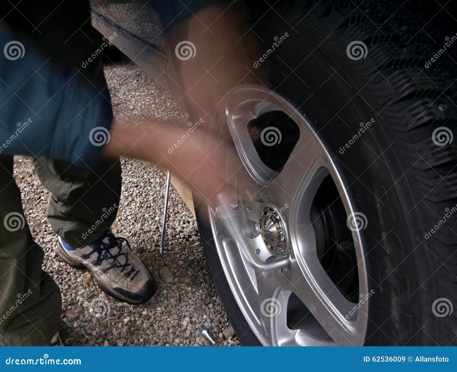 散布的防滑轮胎