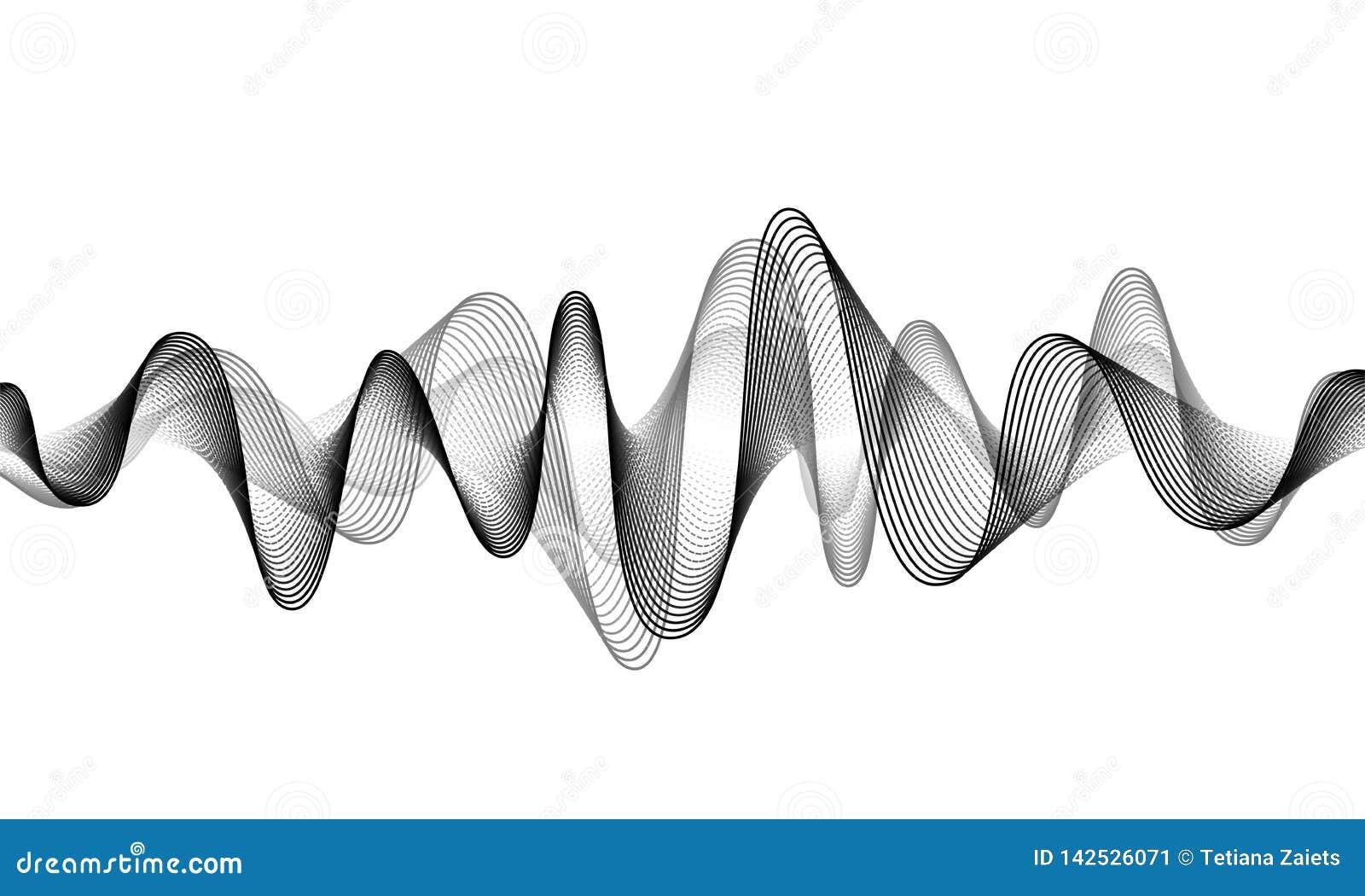 数字声波传染媒介横幅背景 E r 振动敲打