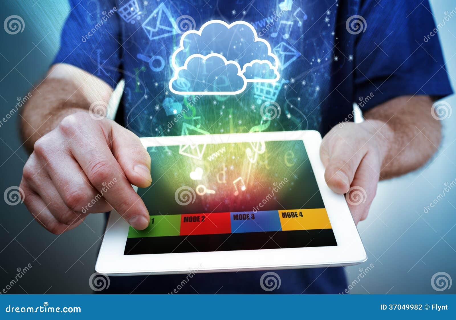 数字式片剂,多媒体和云彩计算