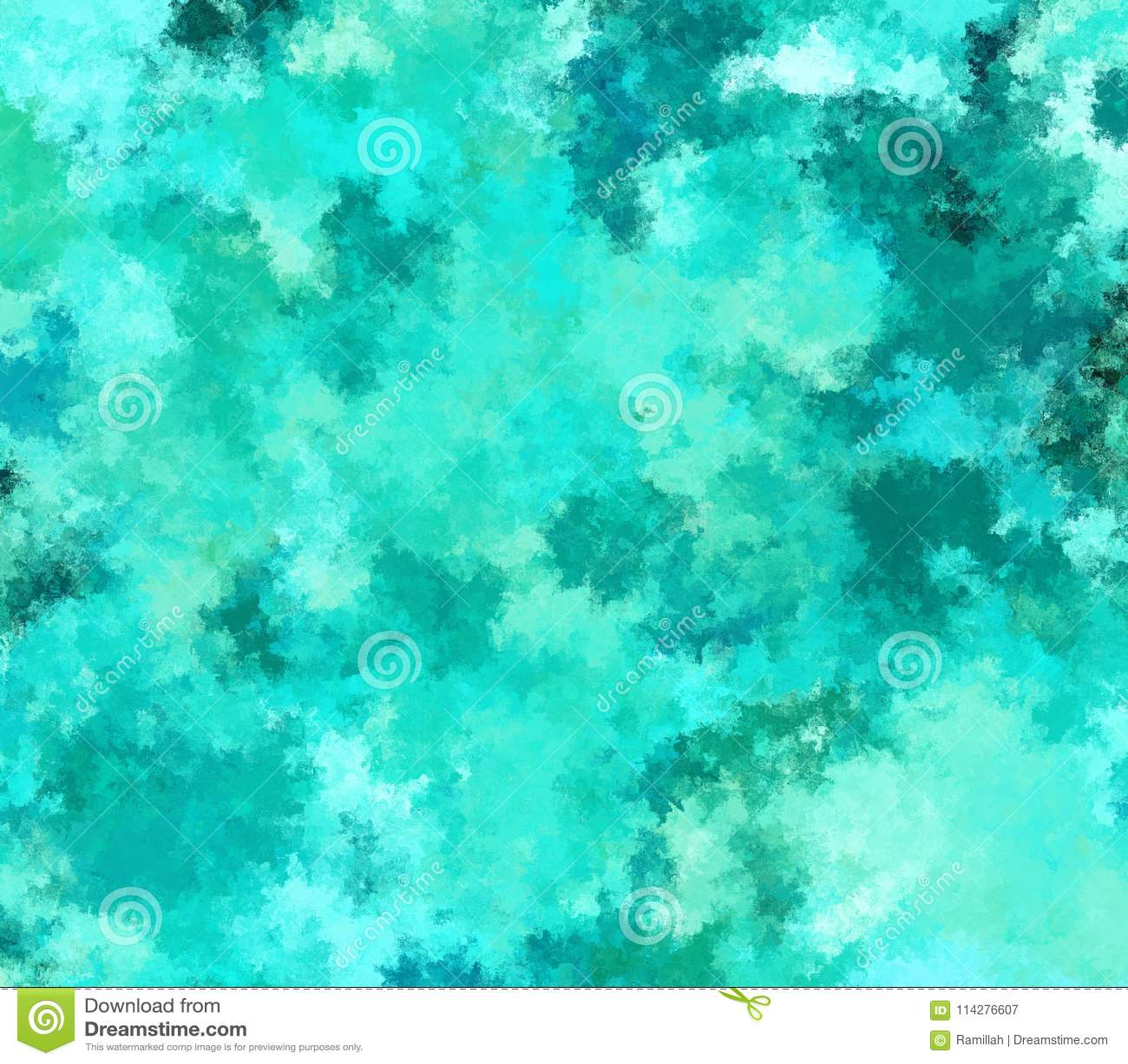 数字式绘画在绿松石颜色的摘要背景