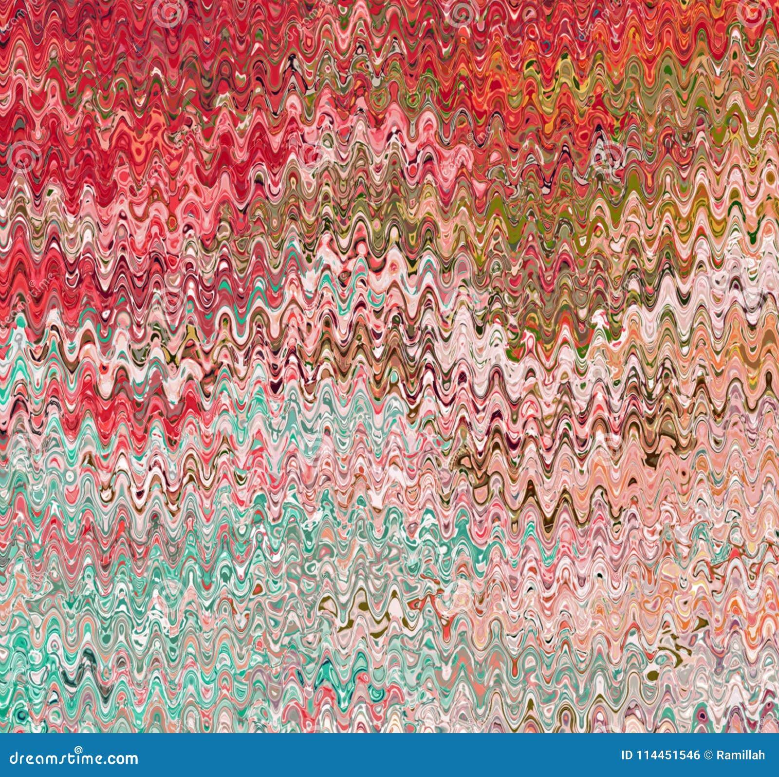 数字式绘画摘要水彩油漆混乱波浪背景