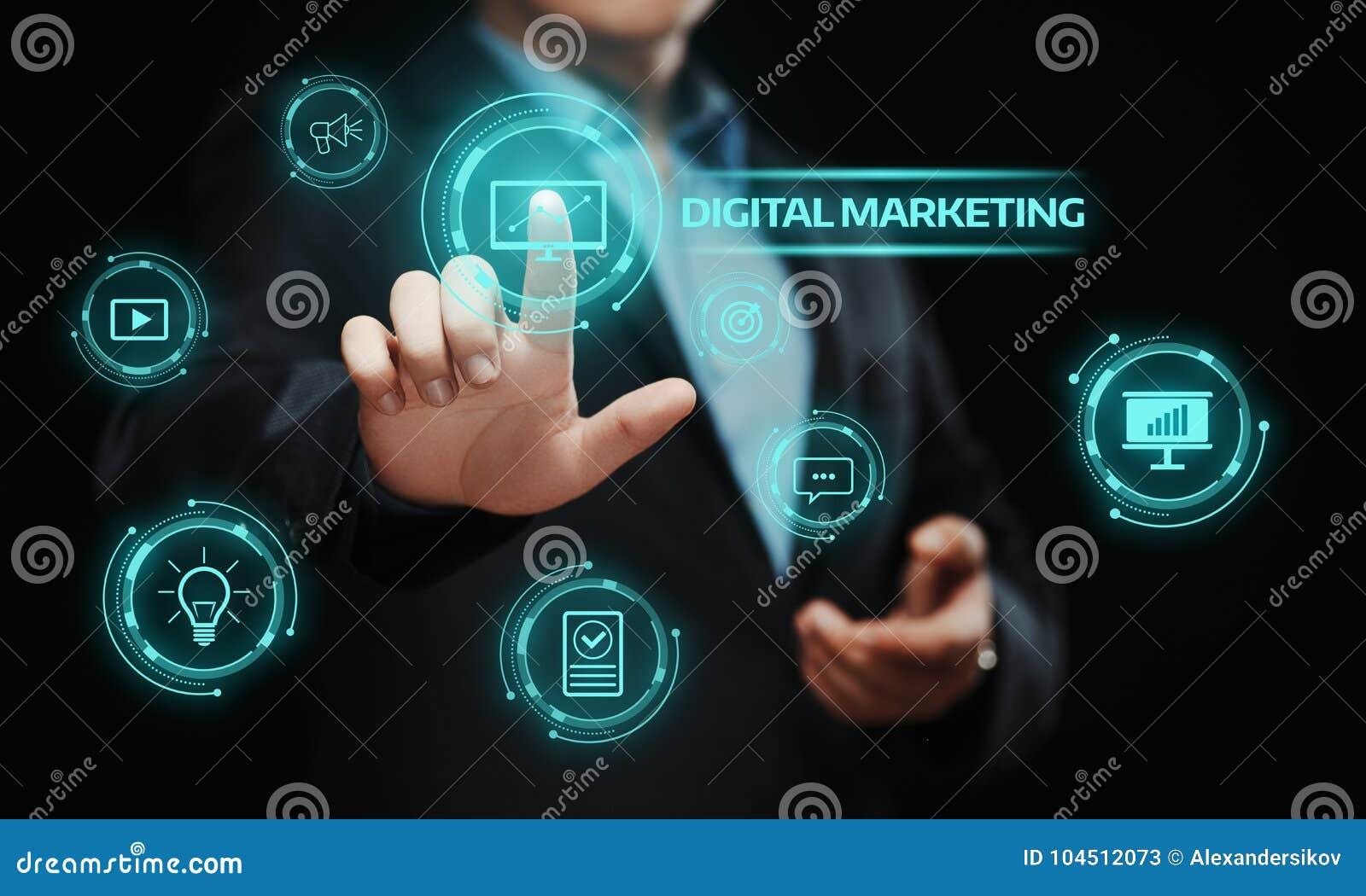 数字式营销内容计划广告战略概念