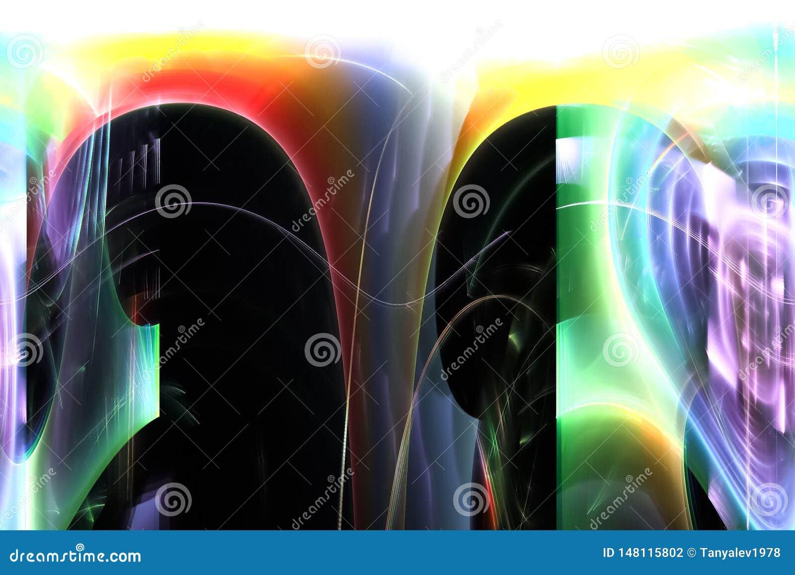 数字摘要,火花样式能量力量五颜六色的分数维焕发模板躺在了幻想现代设计魔术动力学
