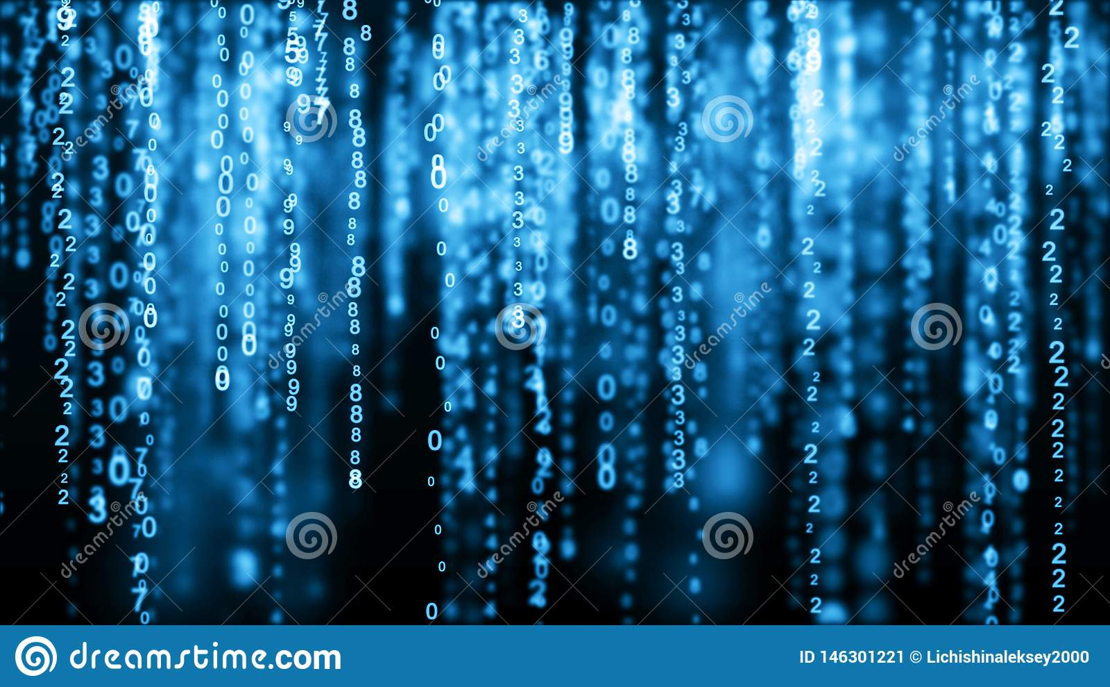 数字背景蓝色矩阵 t i 3d??