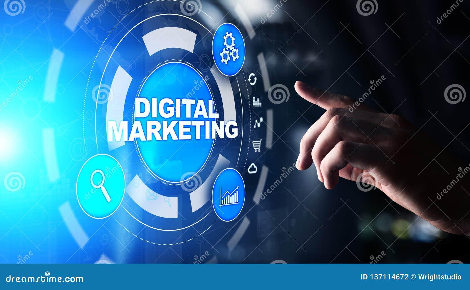 数字营销,网上广告,SEO,SEM,SMM 事务和互联网概念