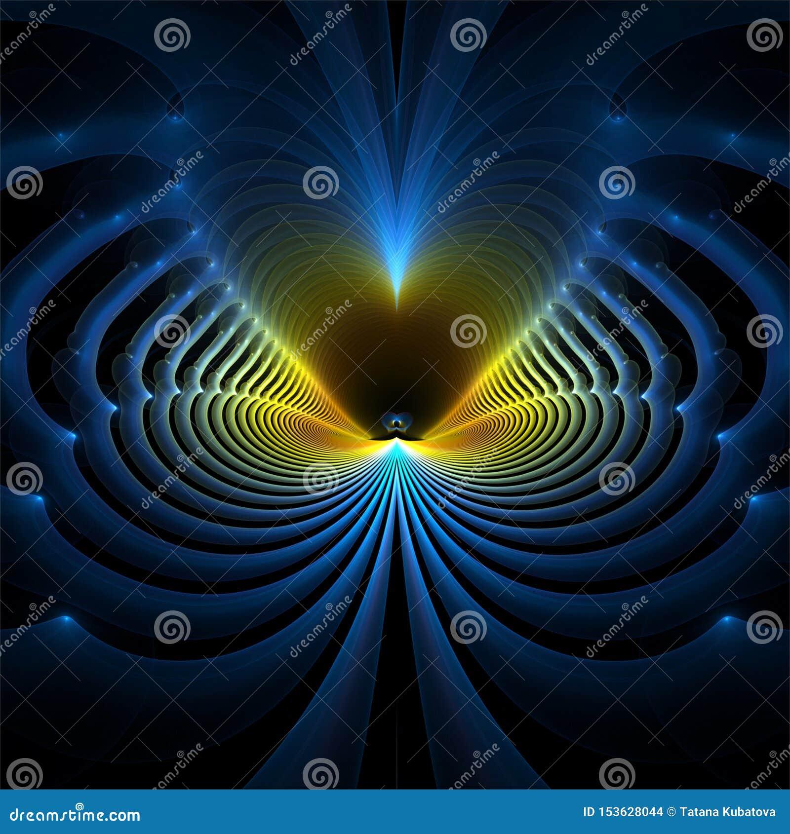 数字计算机分数维艺术摘要分数维蓝色波浪