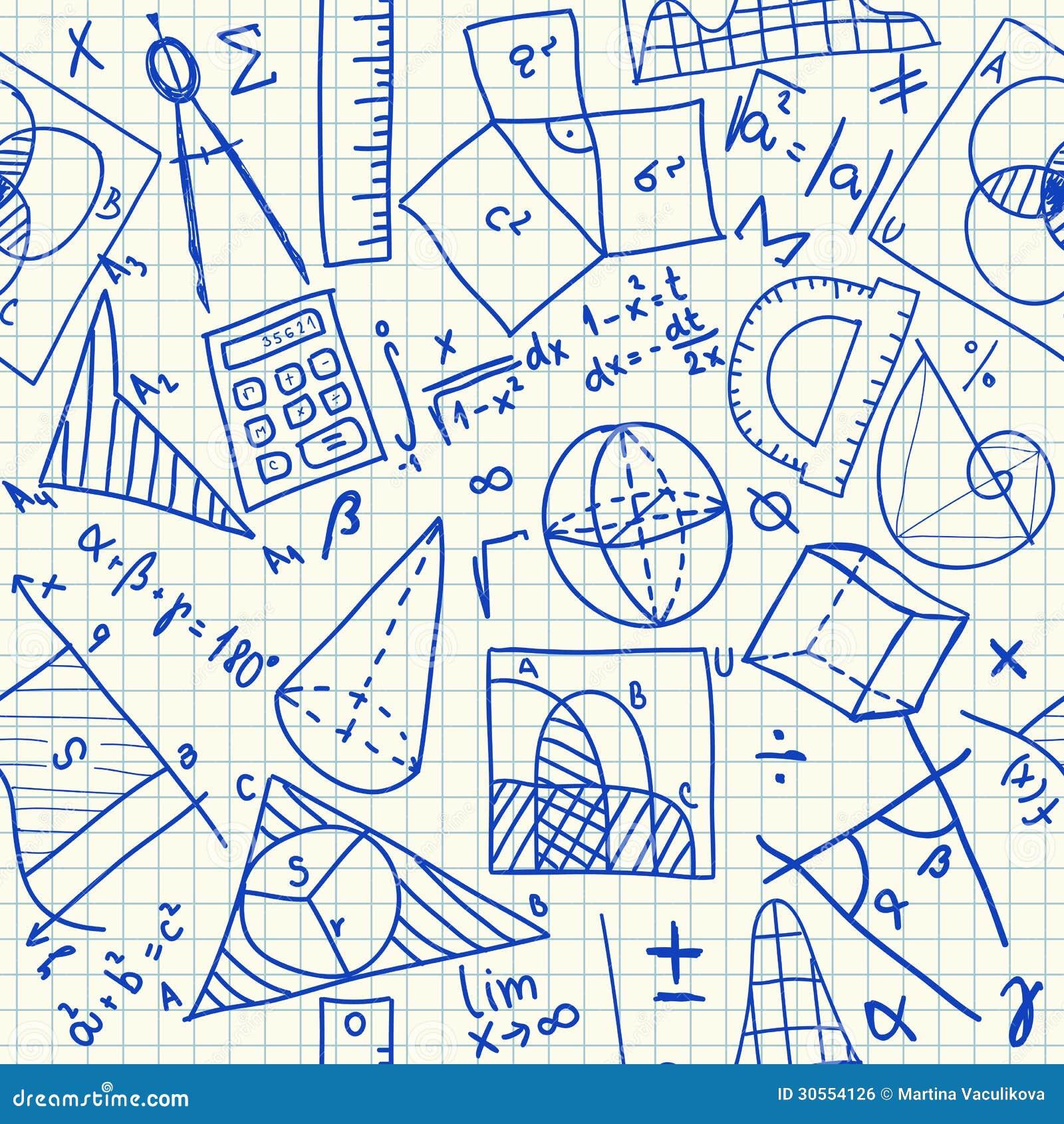 数学乱画无缝的样式