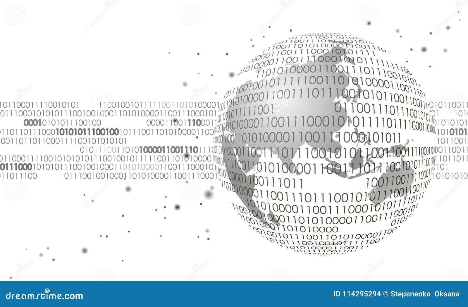 数据交换全球性国际连接的信息 行星空间现代未来技术财务银行业务设计