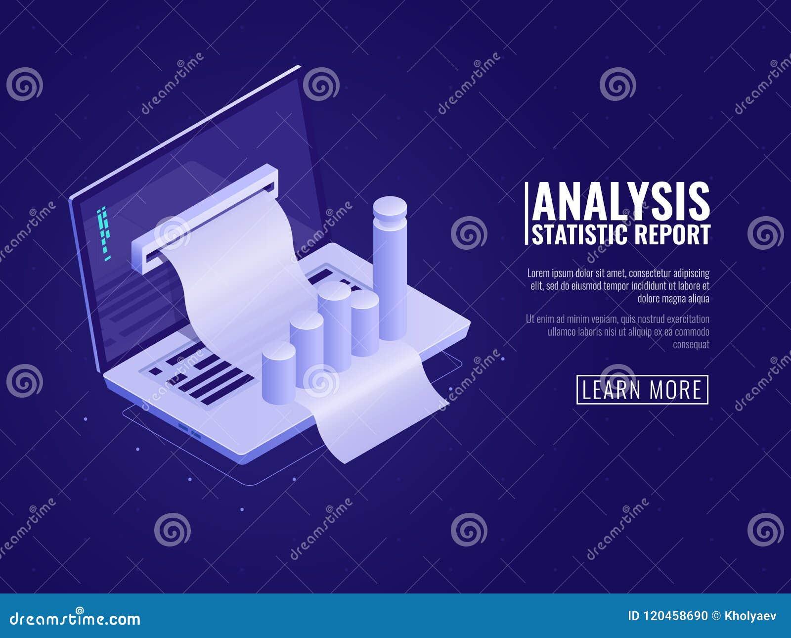 数据分析和信息统计,业务管理,企业数据顺序,有等量图的图的膝上型计算机