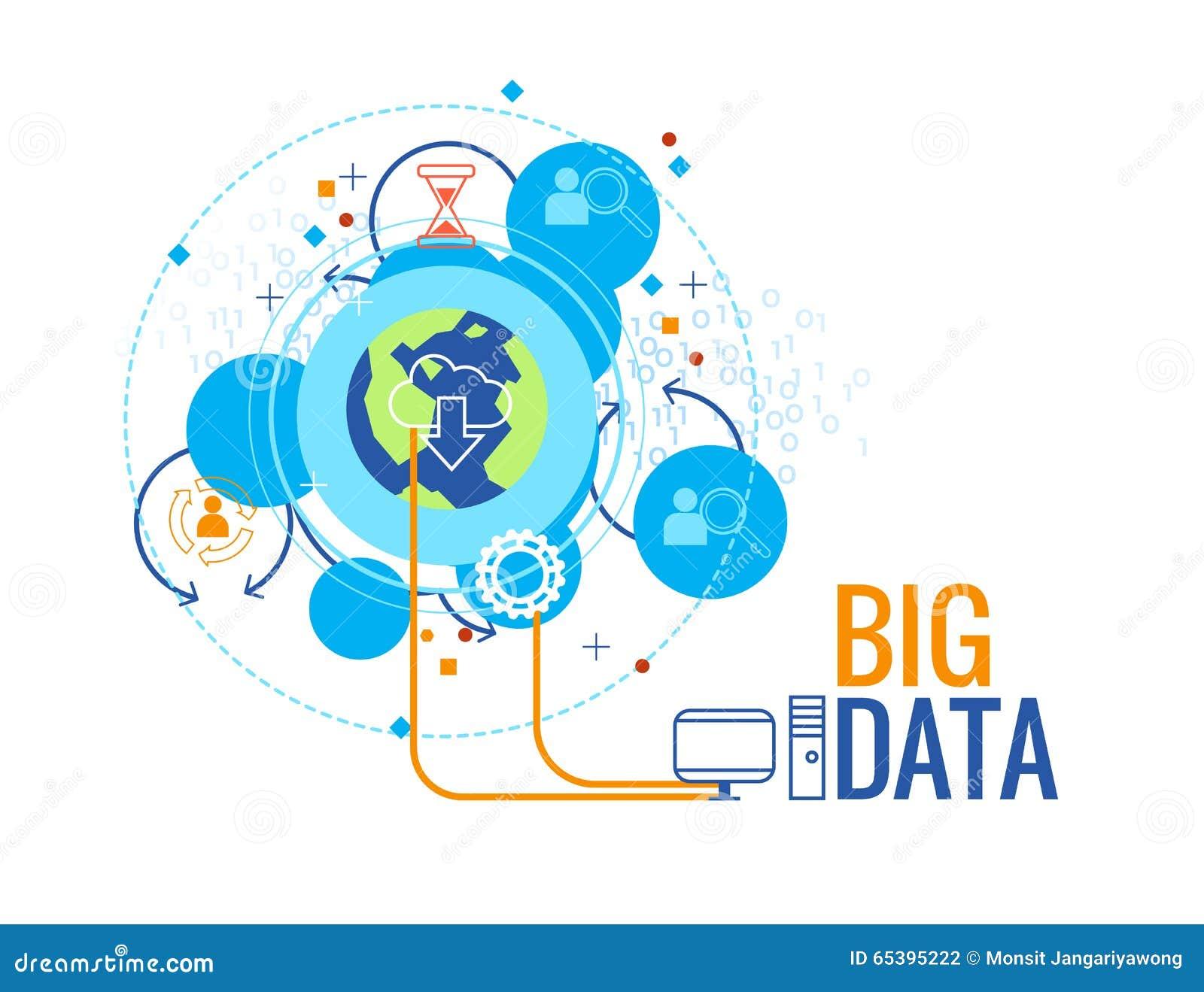 大数据企业概念,信息图表传染媒介例证.图片