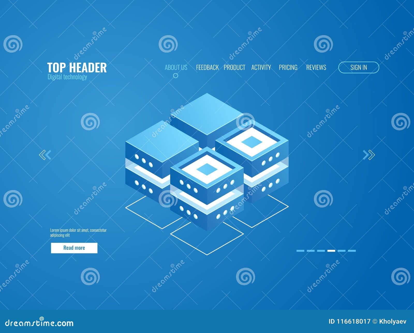 数据库象、数据处理和云彩存贮概念,数字技术等量摘要的元素