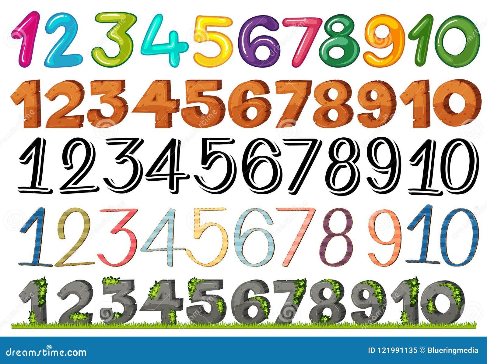 数集和字体
