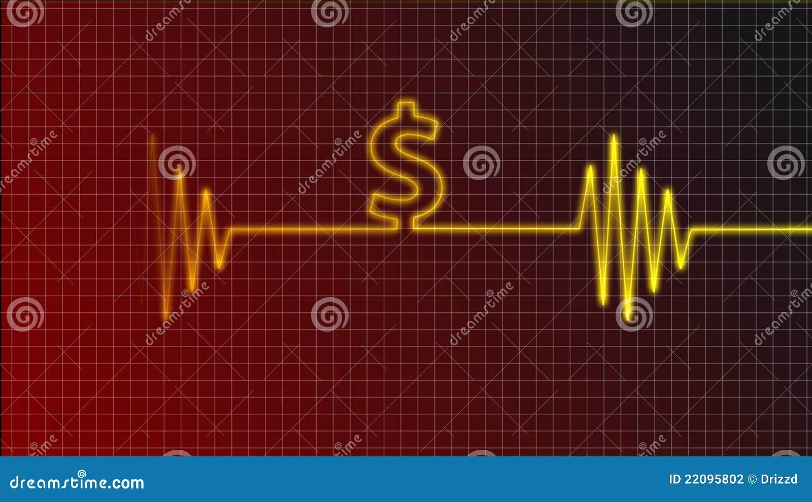 心电图曲线美元符号.