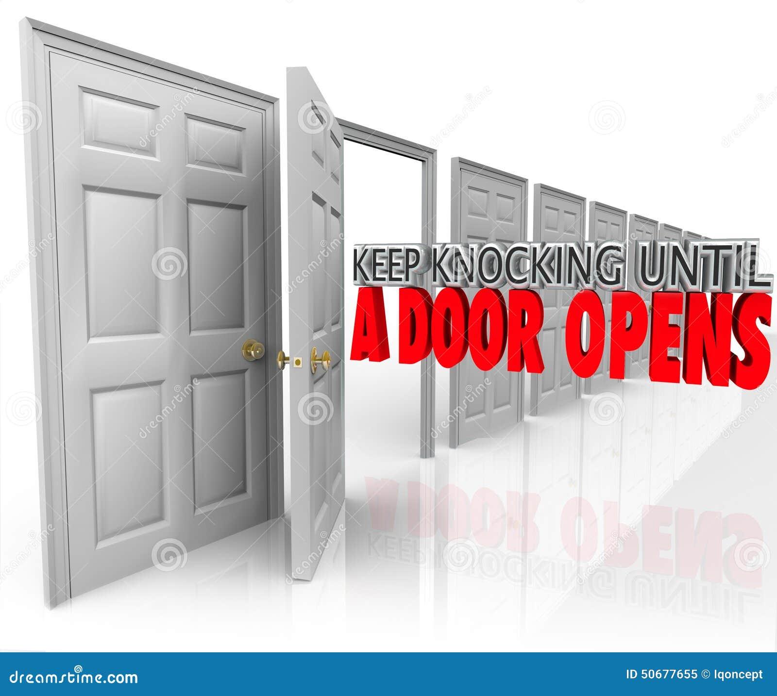 Download 继续敲,直到门打开坚持决心Dedic 库存例证. 插画 包括有 目标, 从未, 开放, 驱动, 解决, 开张 - 50677655
