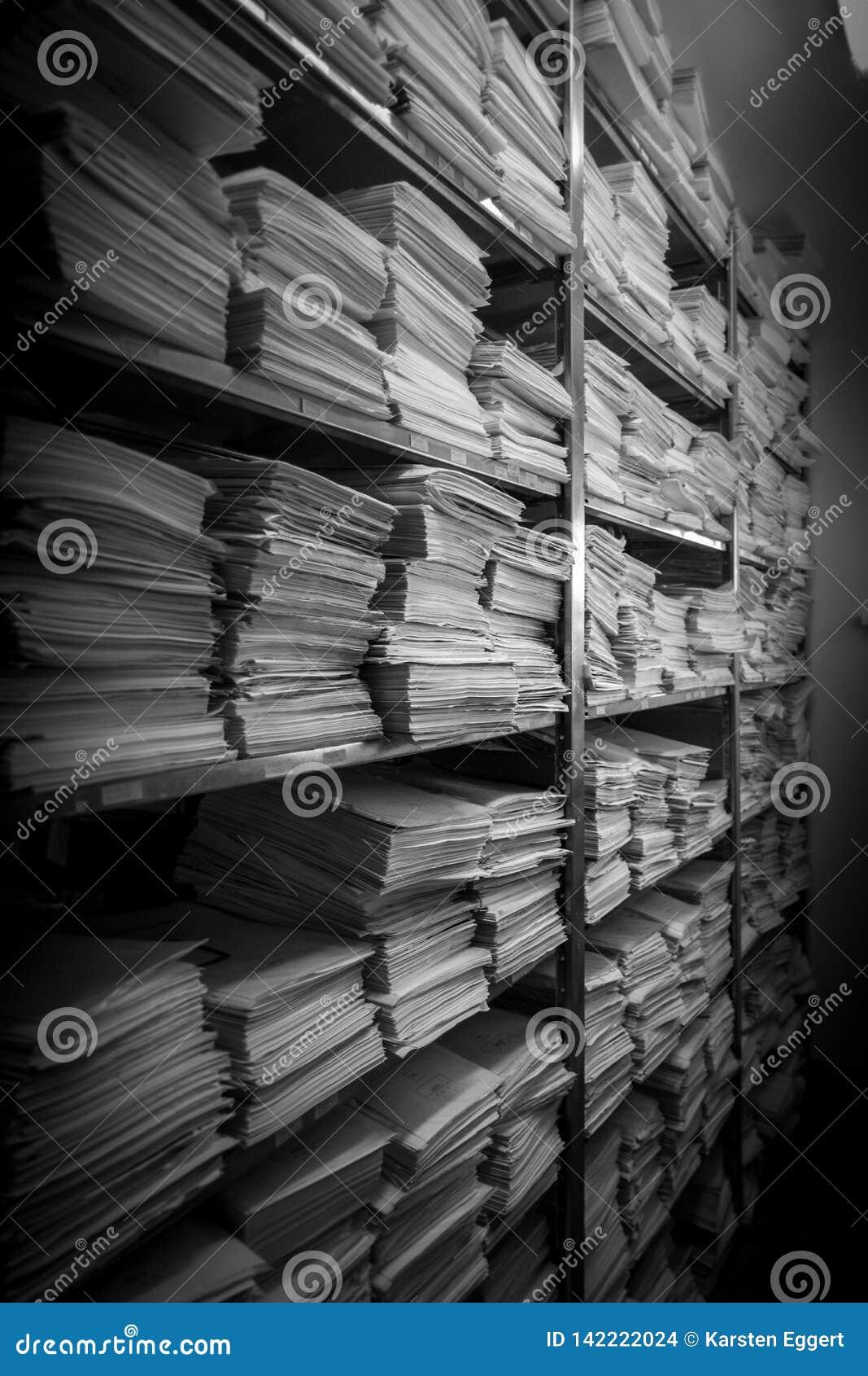 文件堆在一个档案被存放