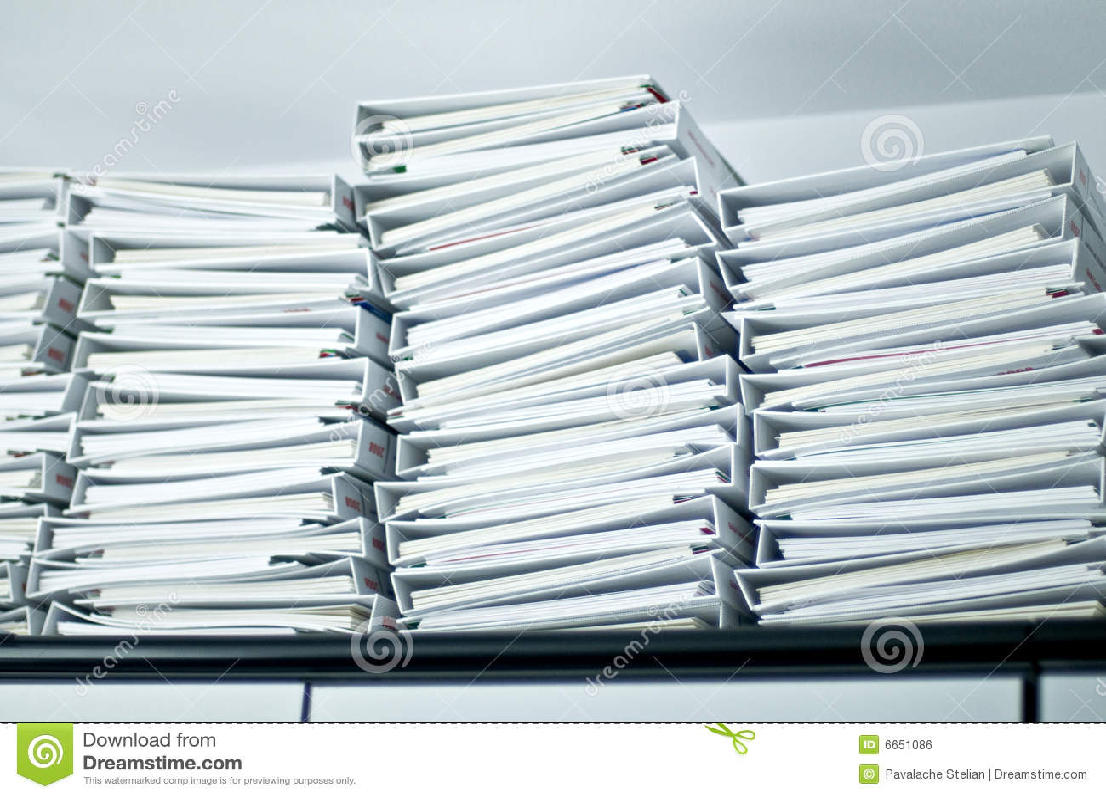 文件夹办公室堆