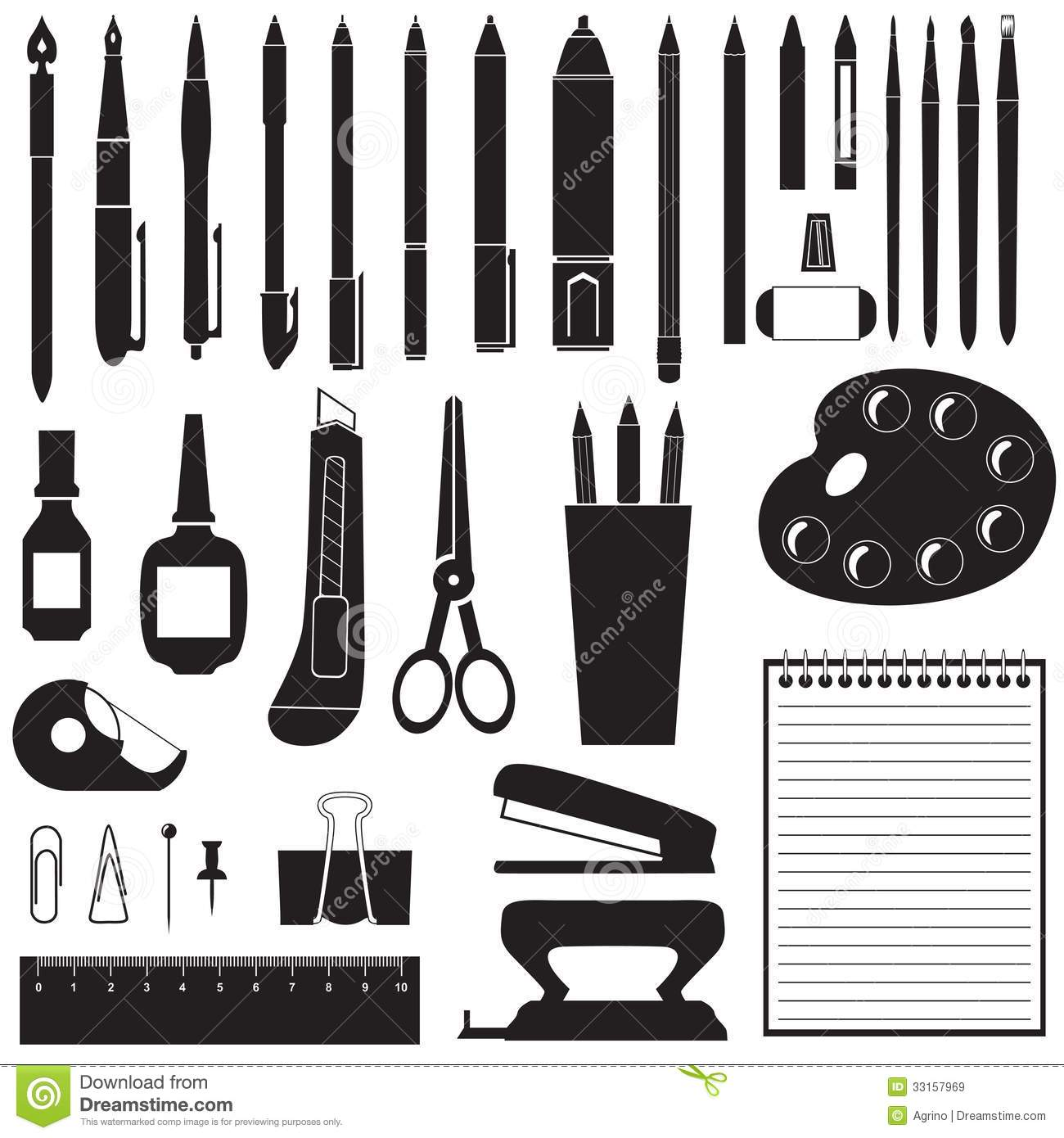 Crafting Clipart Black And White