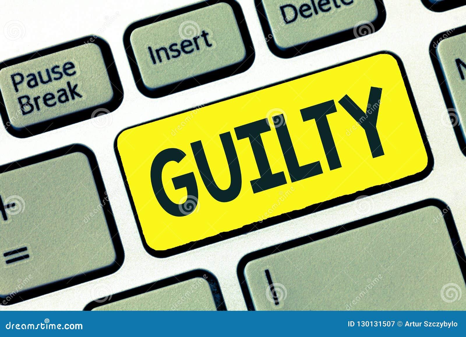 文字笔记显示有罪 企业照片陈列有罪或负责对指定的不道德的行为承认