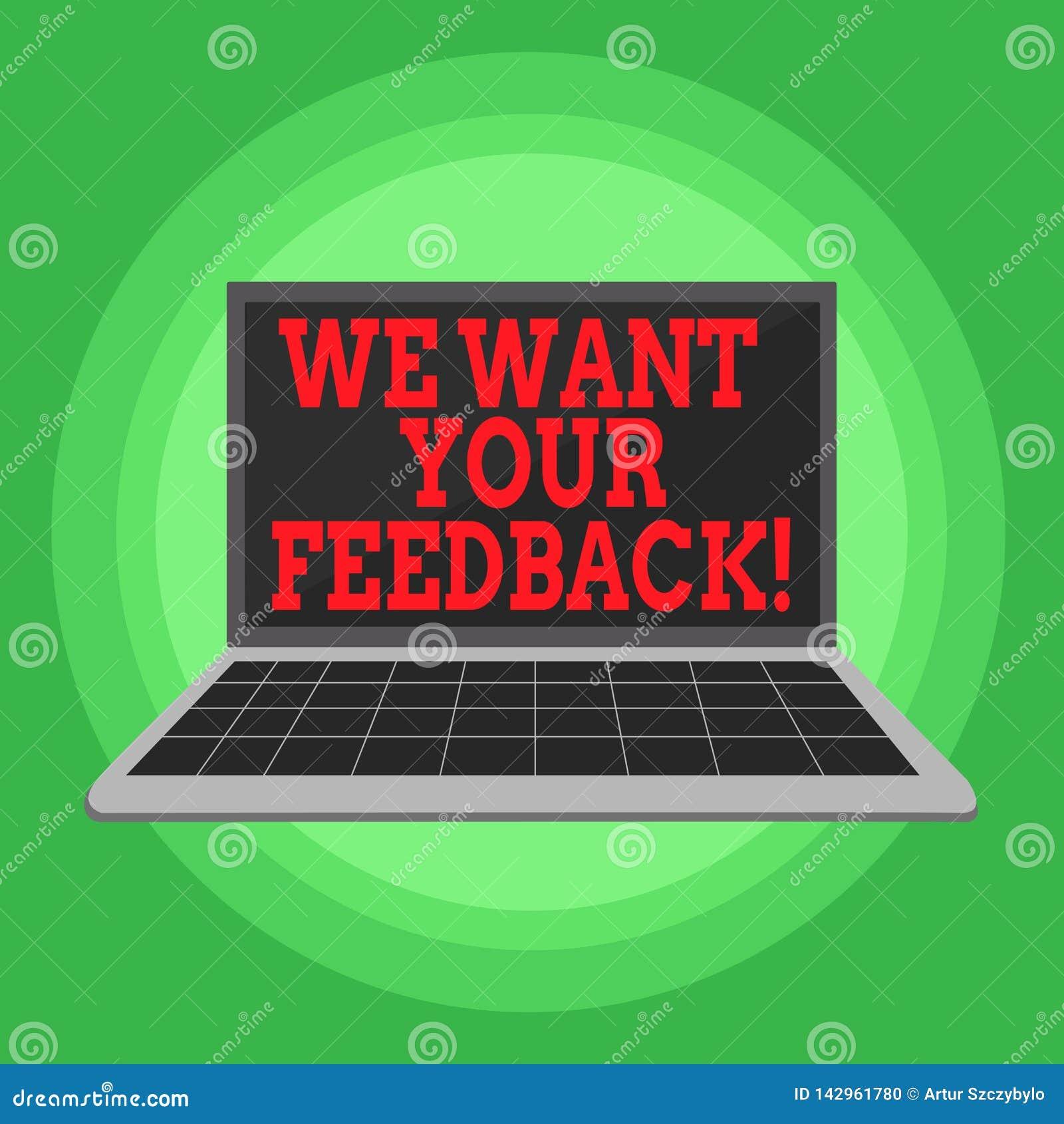 文字笔记陈列我们想要您的反馈 指定的企业照片陈列的批评某人说可以做为