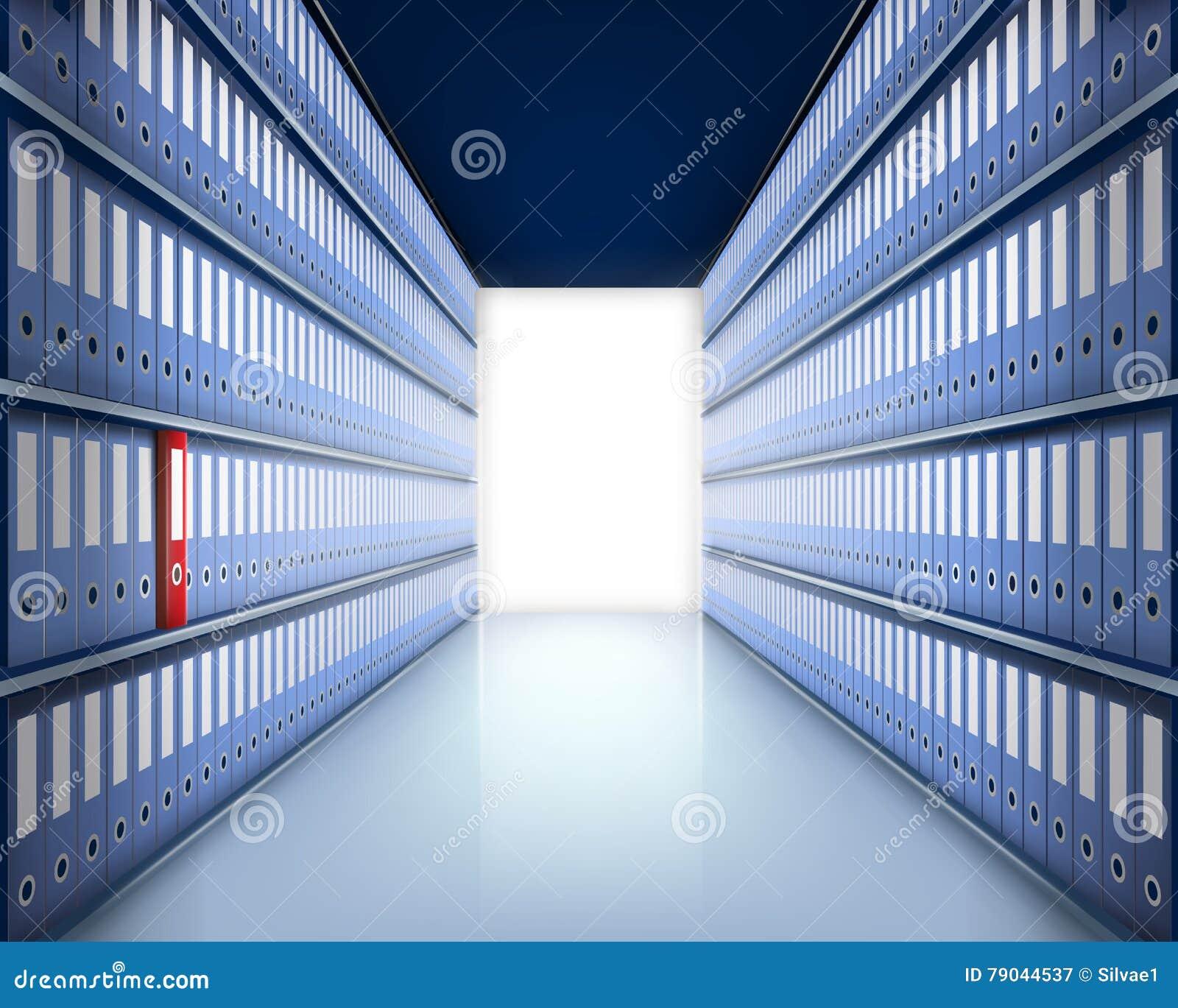 文件夹在档案里 也corel凹道例证向量