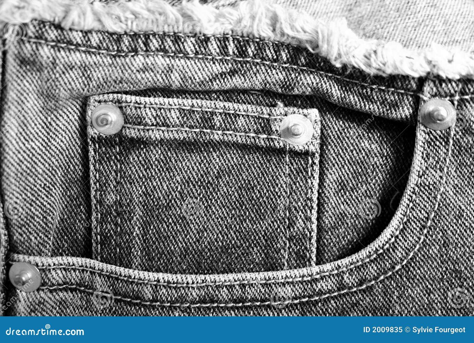 斜纹布装在口袋里s