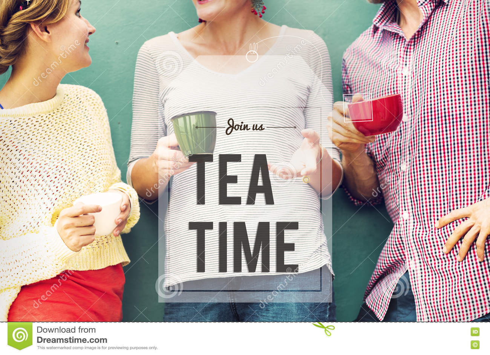 断裂茶咖啡时间放松概念