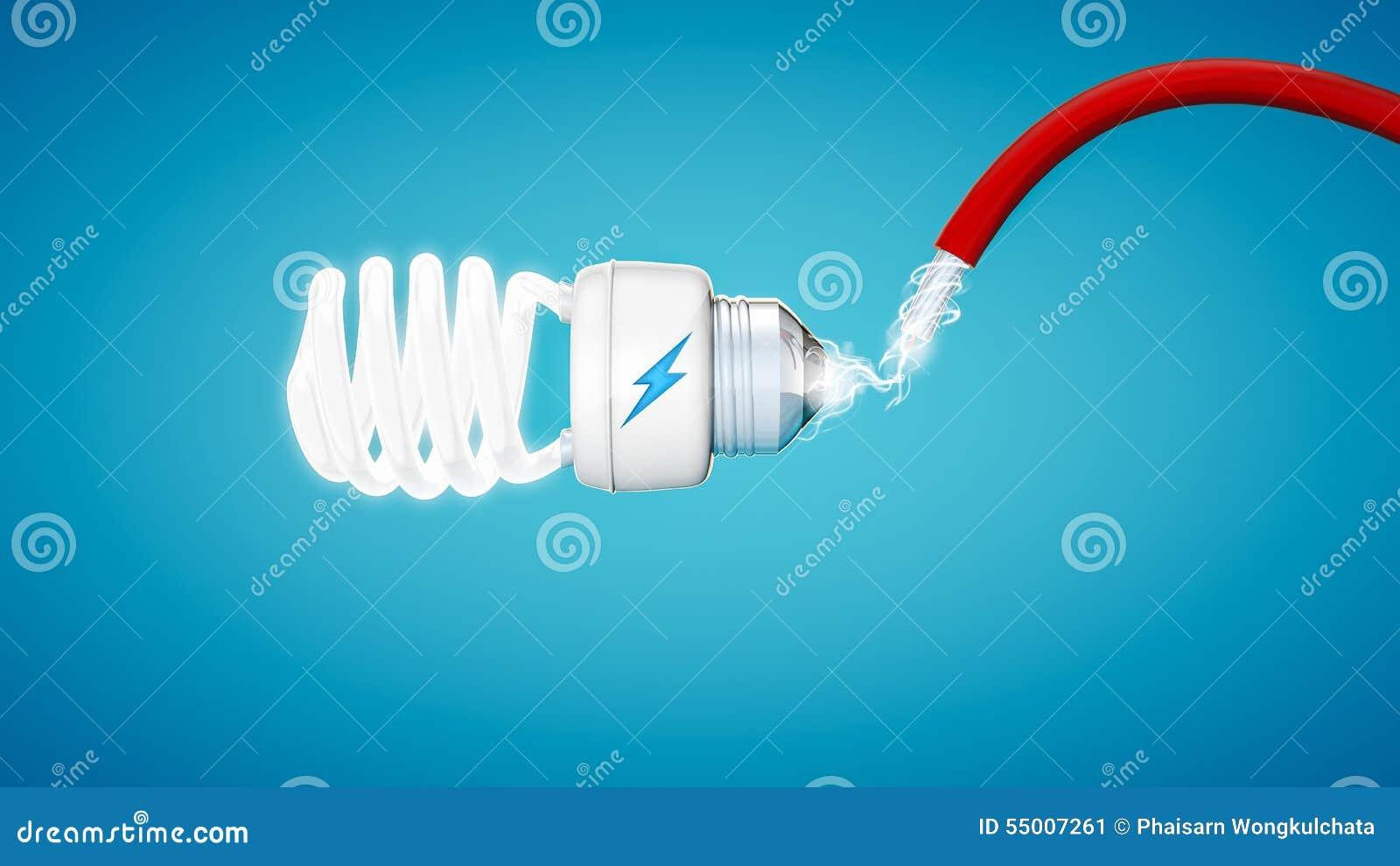 断言在现代蓝色背景的电灯泡