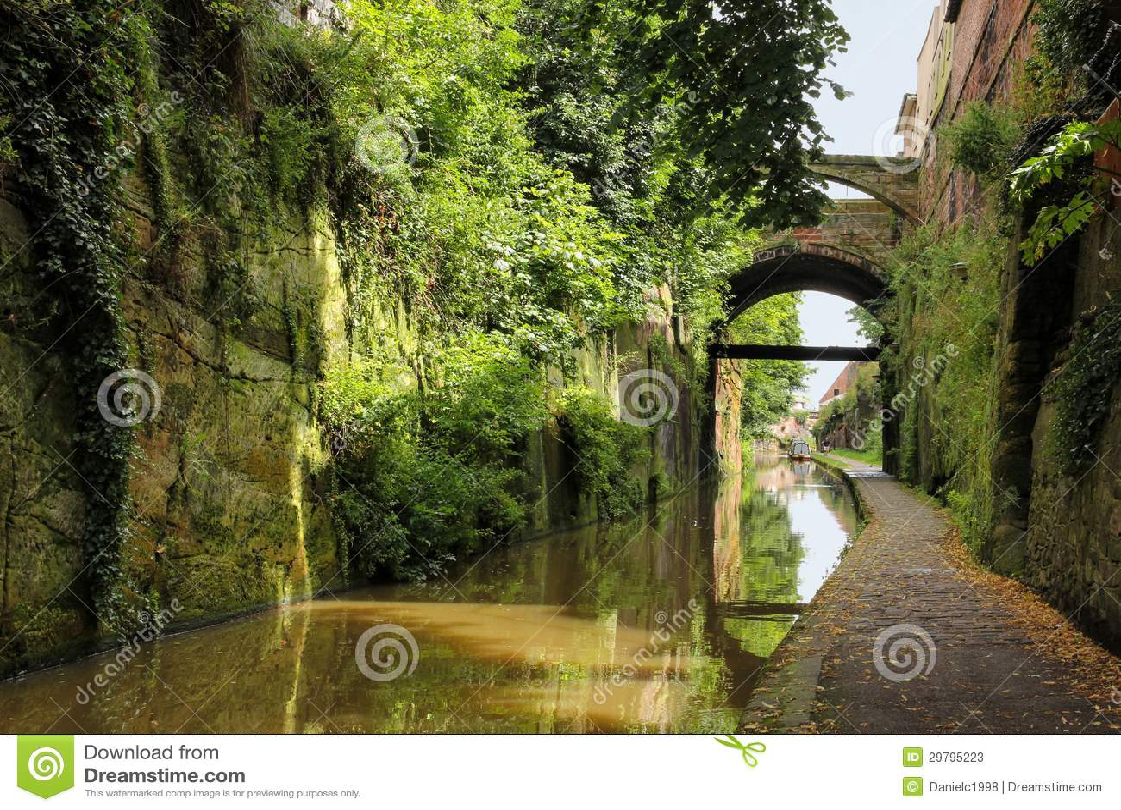 彻斯特运河。 彻斯特。 英国