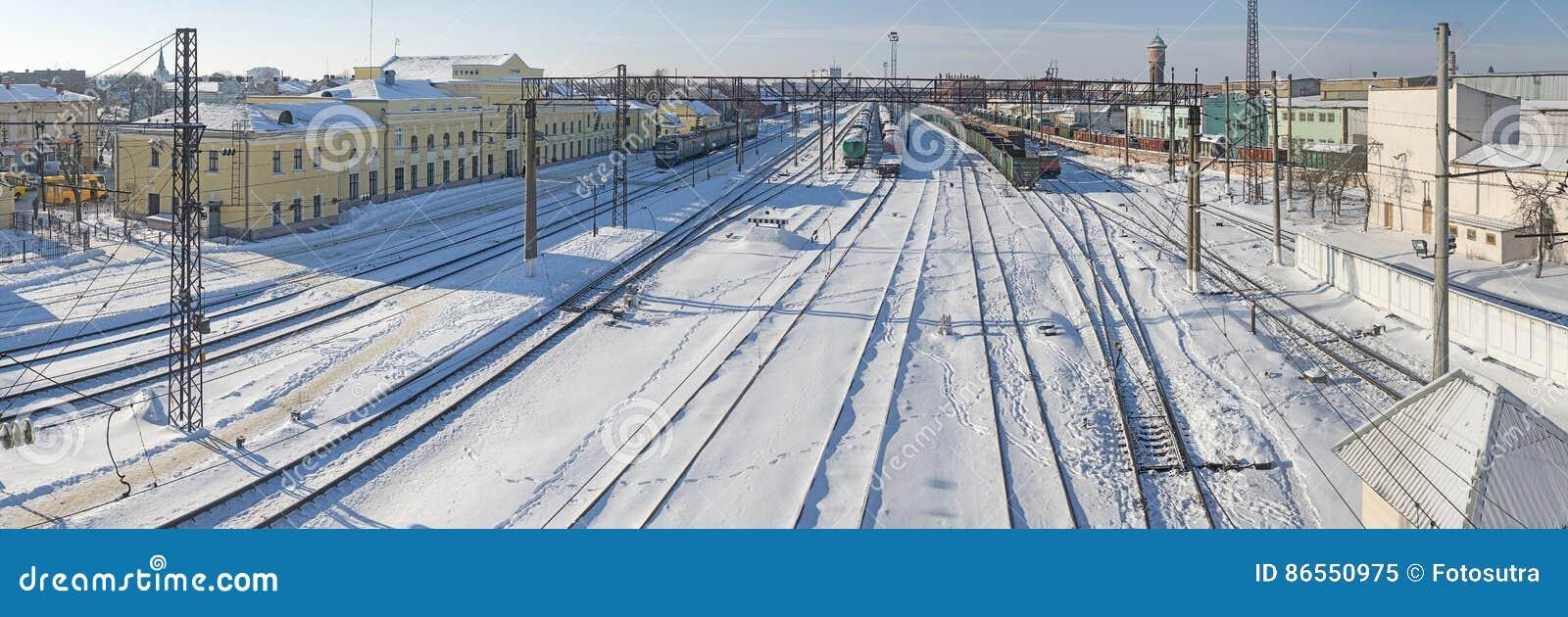 斯特雷,乌克兰- February10, 2017年:斯特雷火车站