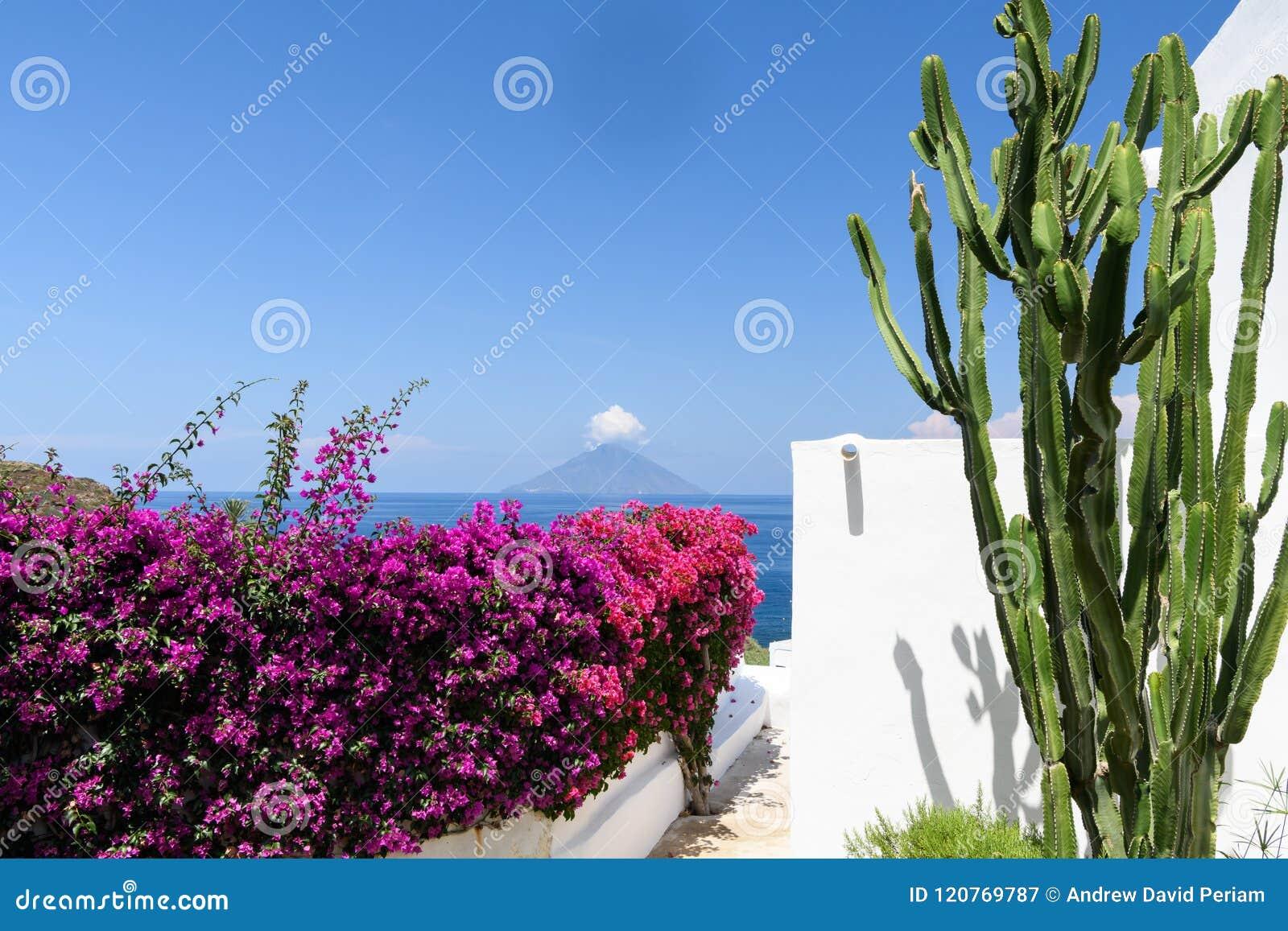 斯特龙博利岛火山岛风景