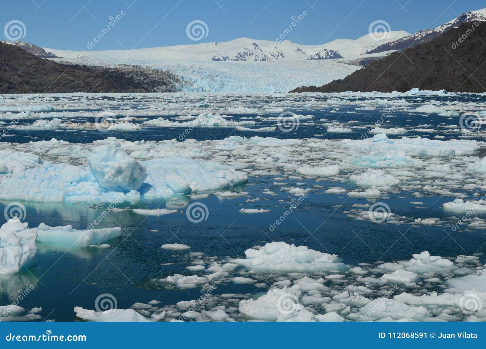斯蒂芬冰川在园地de Hielo苏尔南部的巴塔哥尼亚人的冰原,智利巴塔哥尼亚