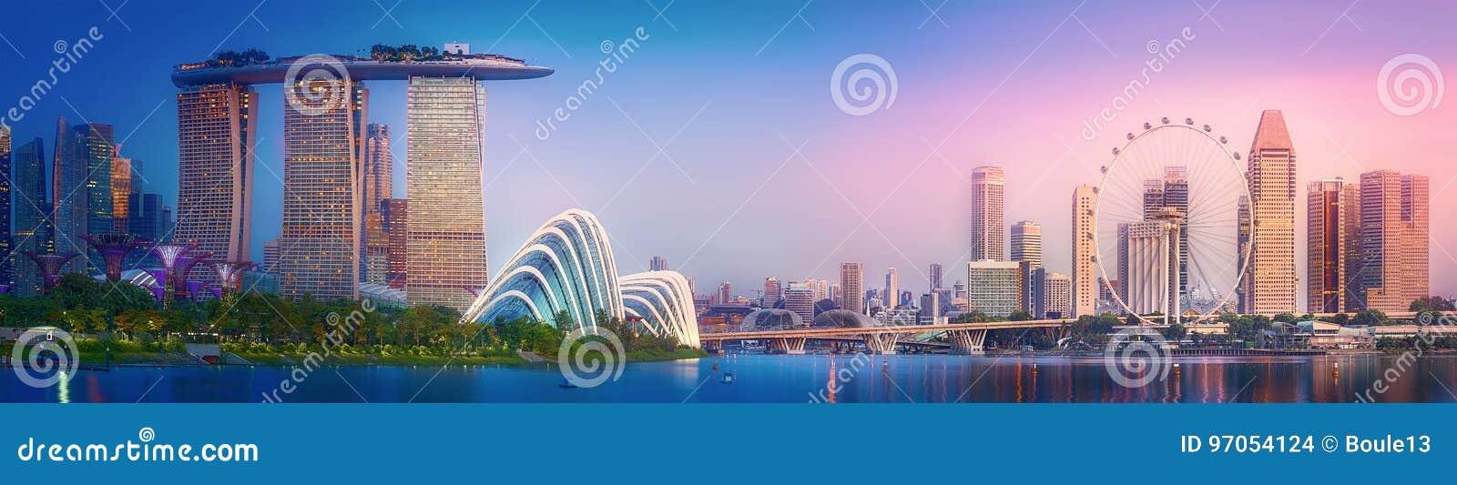 新加坡地平线背景