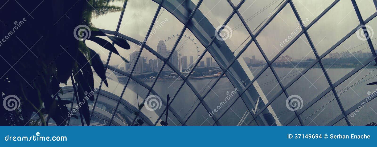 新加坡地平线通过圆顶