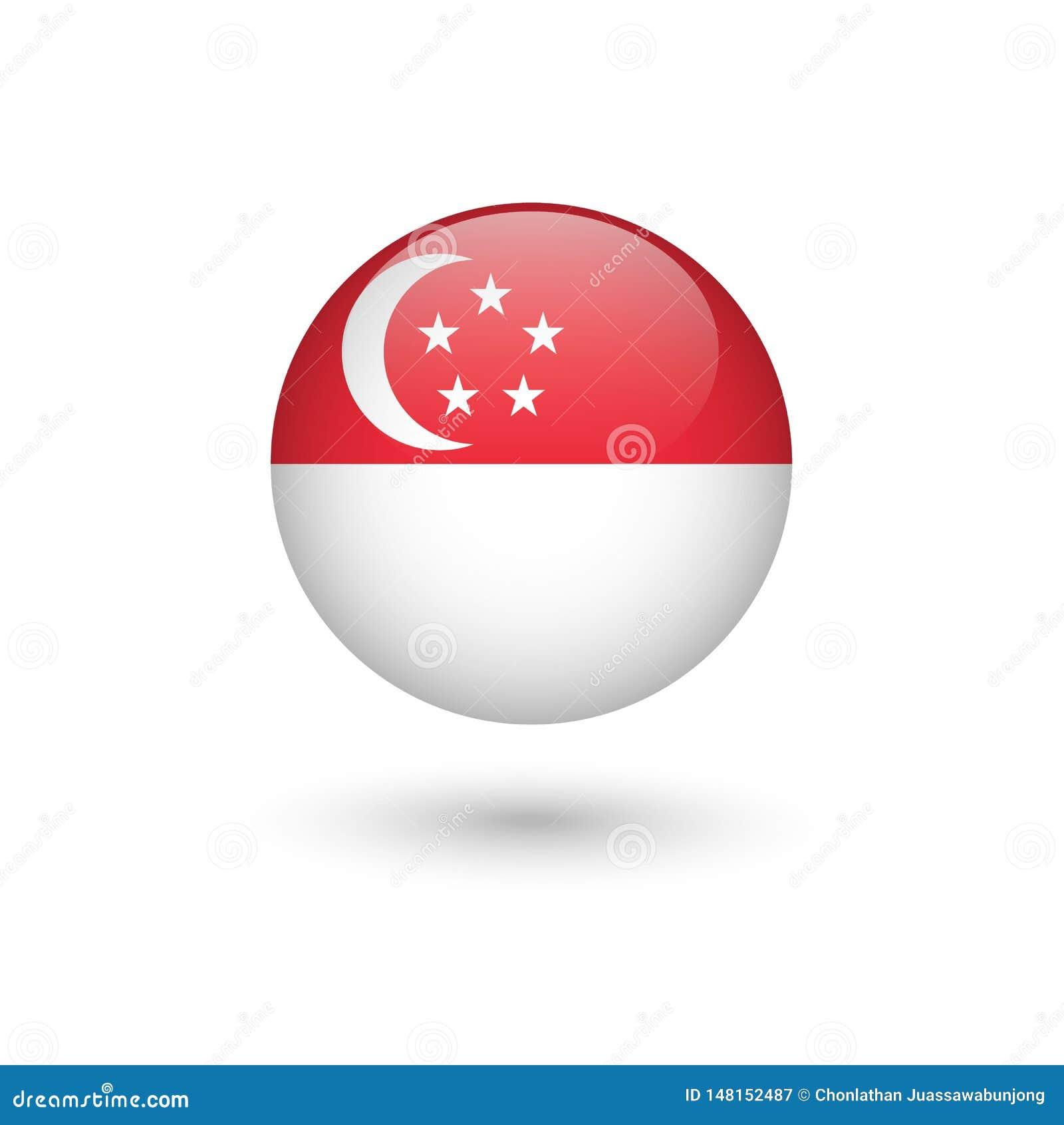 新加坡旗子圆光滑
