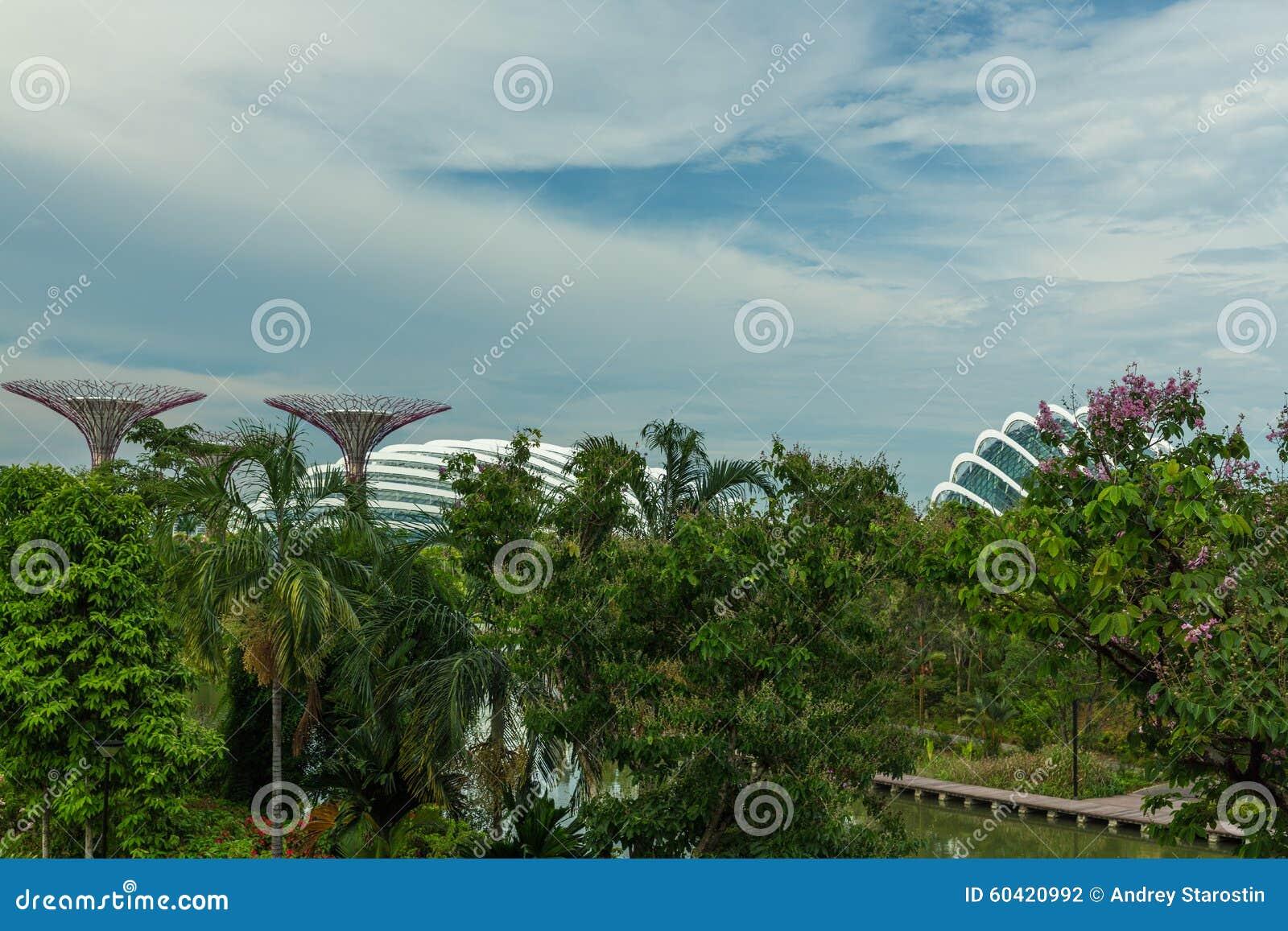 新加坡- 5月12 :2014年3月12日的滨海湾公园在Singap