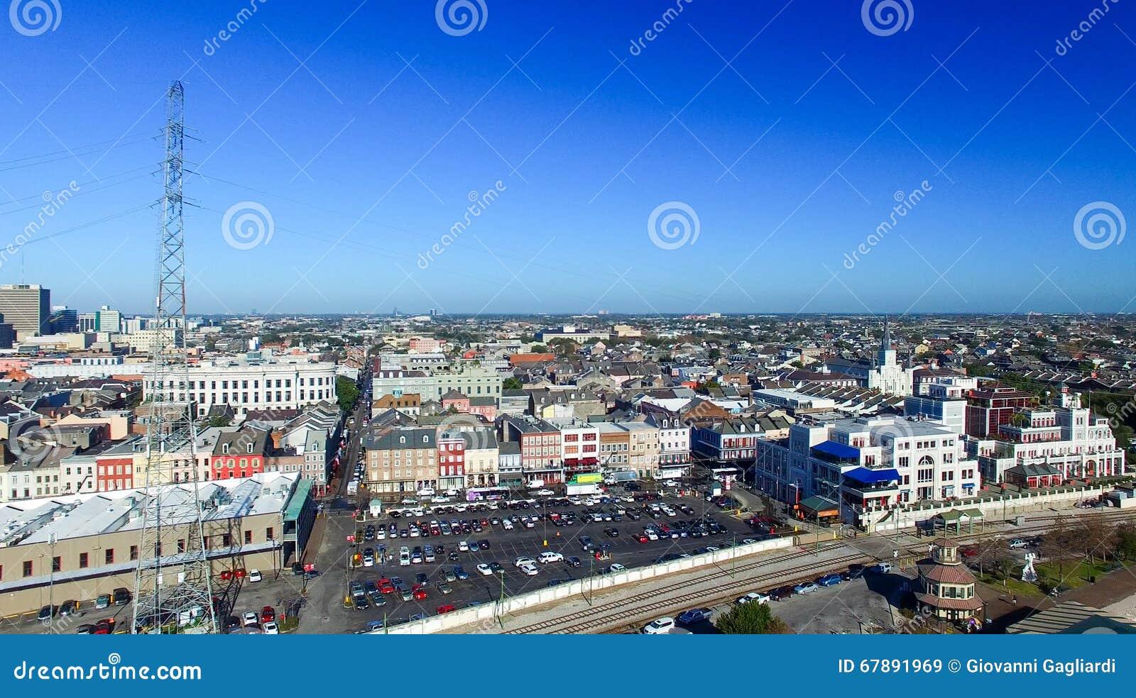 新奥尔良,路易斯安那鸟瞰图