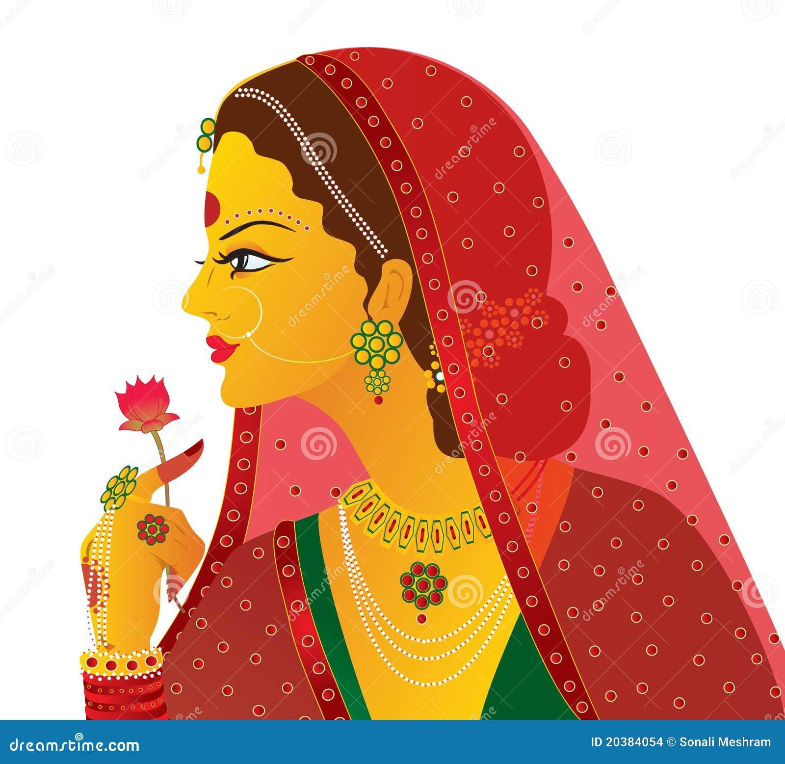 新娘印第安查出的向量
