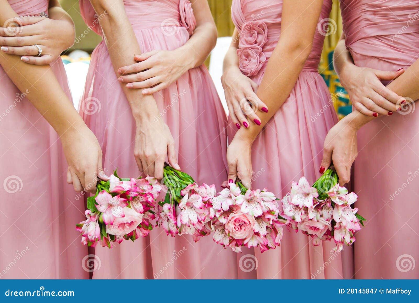 新娘婚礼花和新娘花束