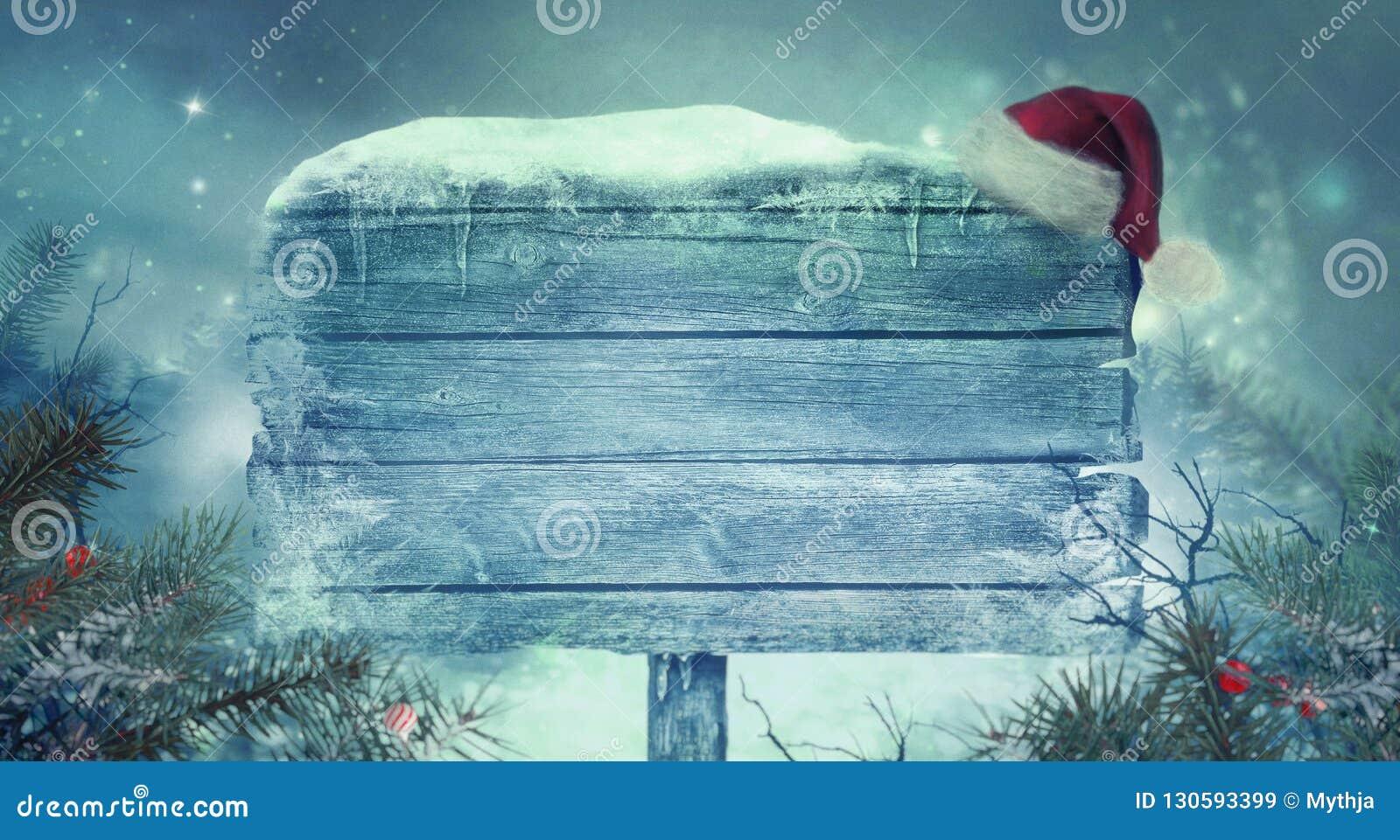 新年发光的背景 与标志的圣诞节背景